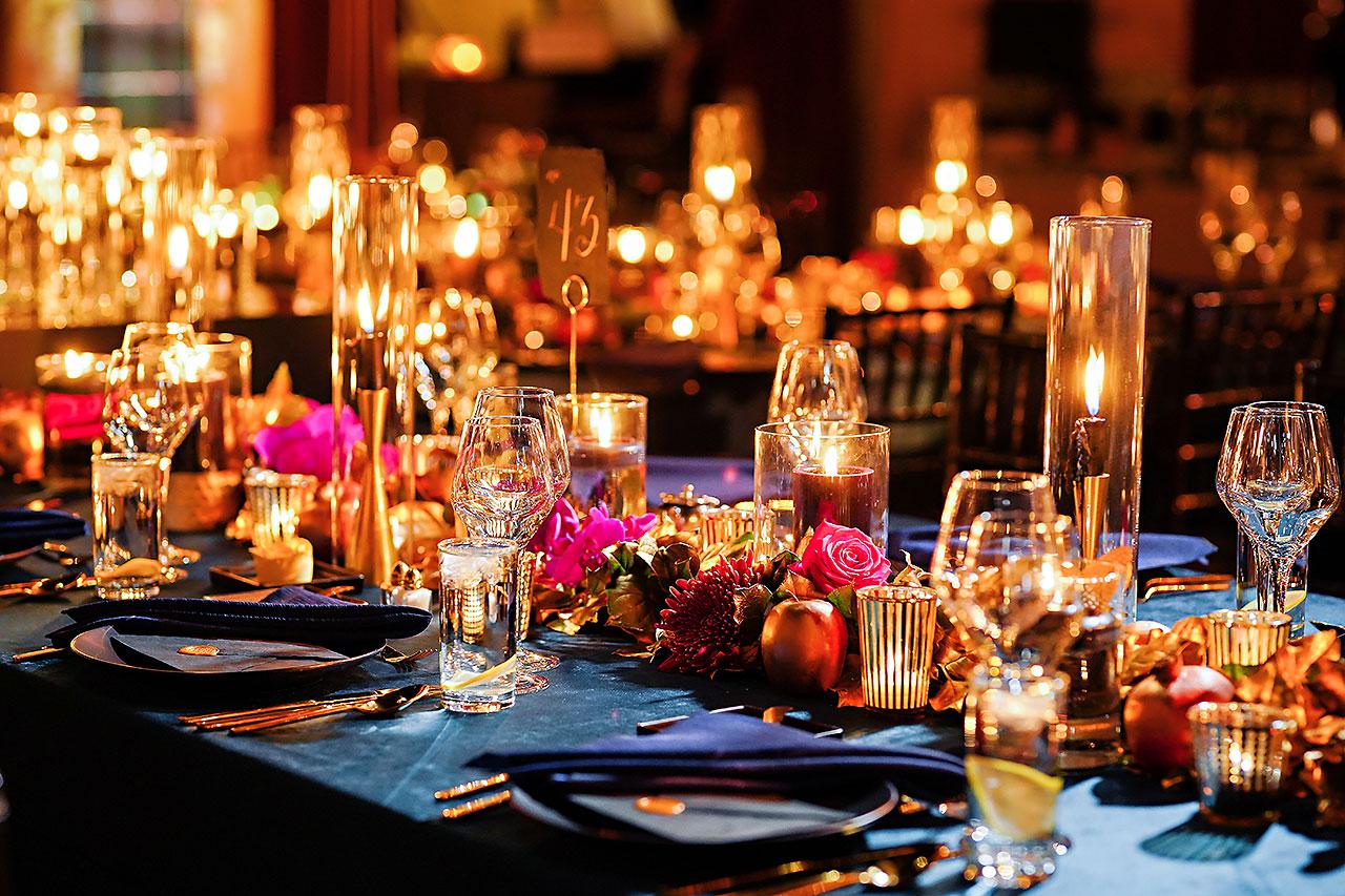 Lucia Matt Indiana Roof Ballroom Wedding Reception 052