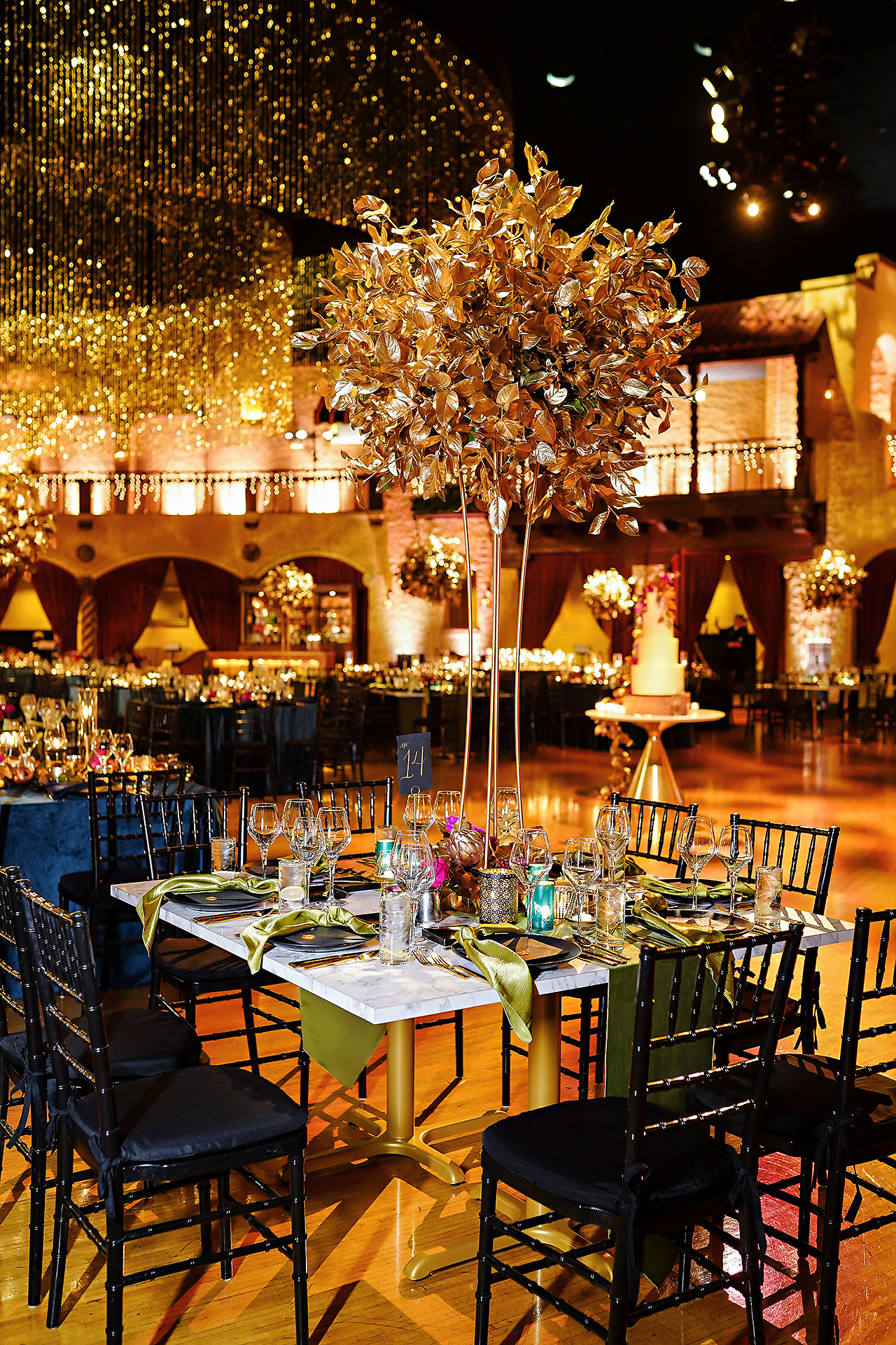 Lucia Matt Indiana Roof Ballroom Wedding Reception 044