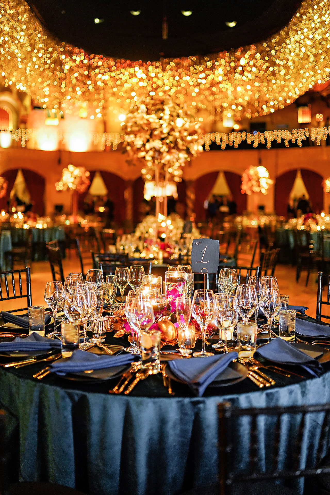 Lucia Matt Indiana Roof Ballroom Wedding Reception 038