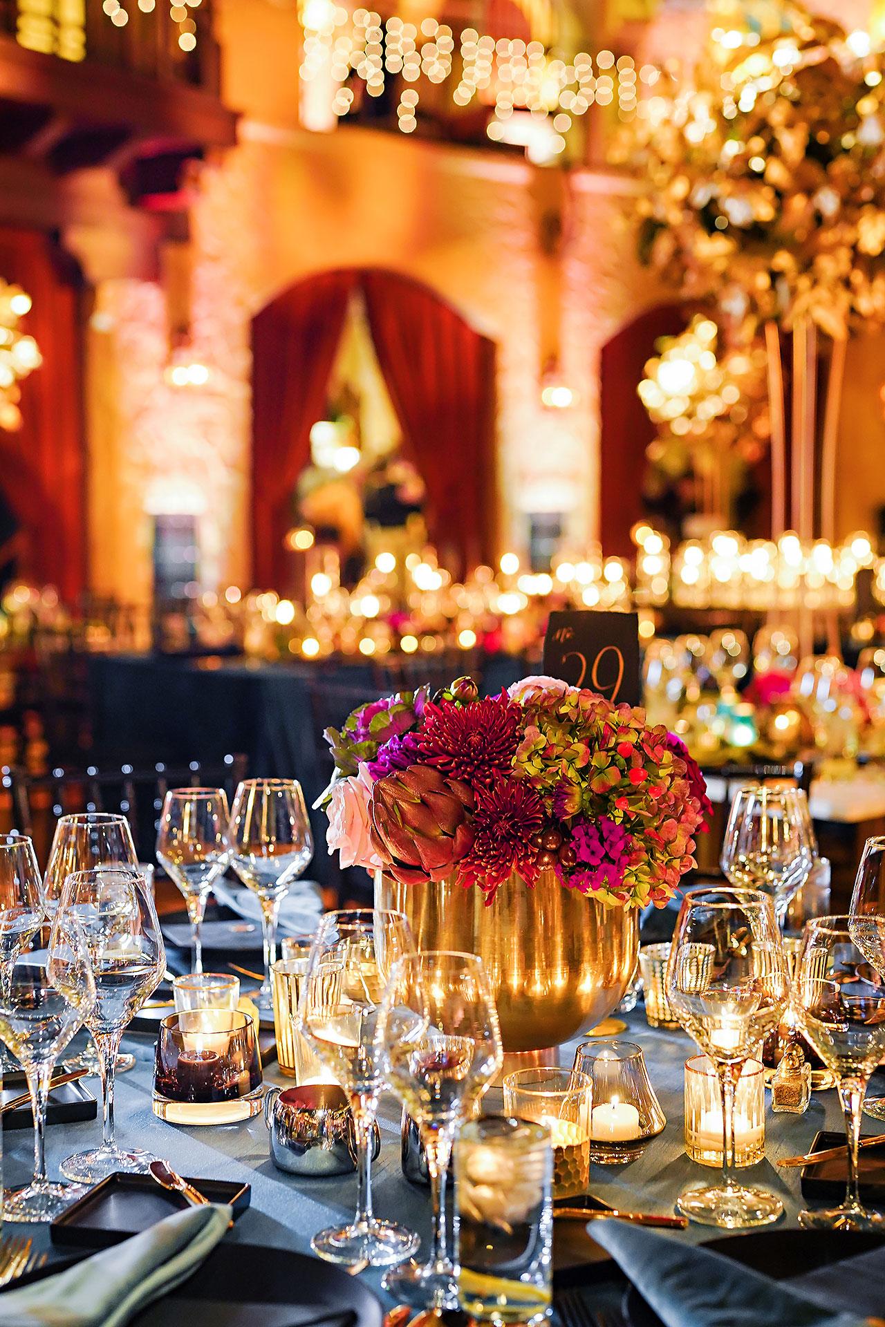 Lucia Matt Indiana Roof Ballroom Wedding Reception 035