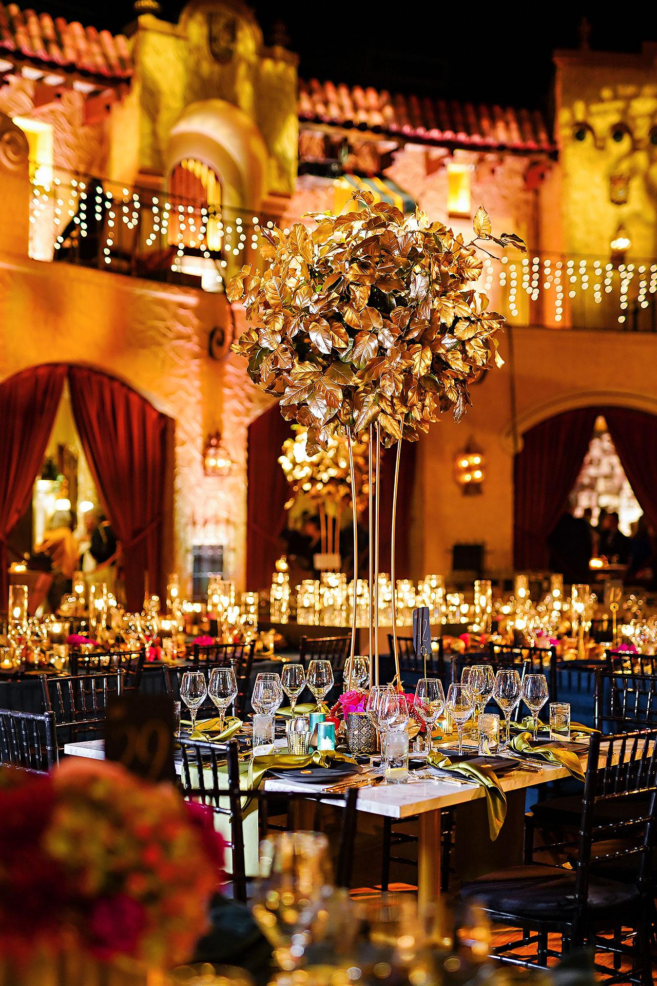 Lucia Matt Indiana Roof Ballroom Wedding Reception 036