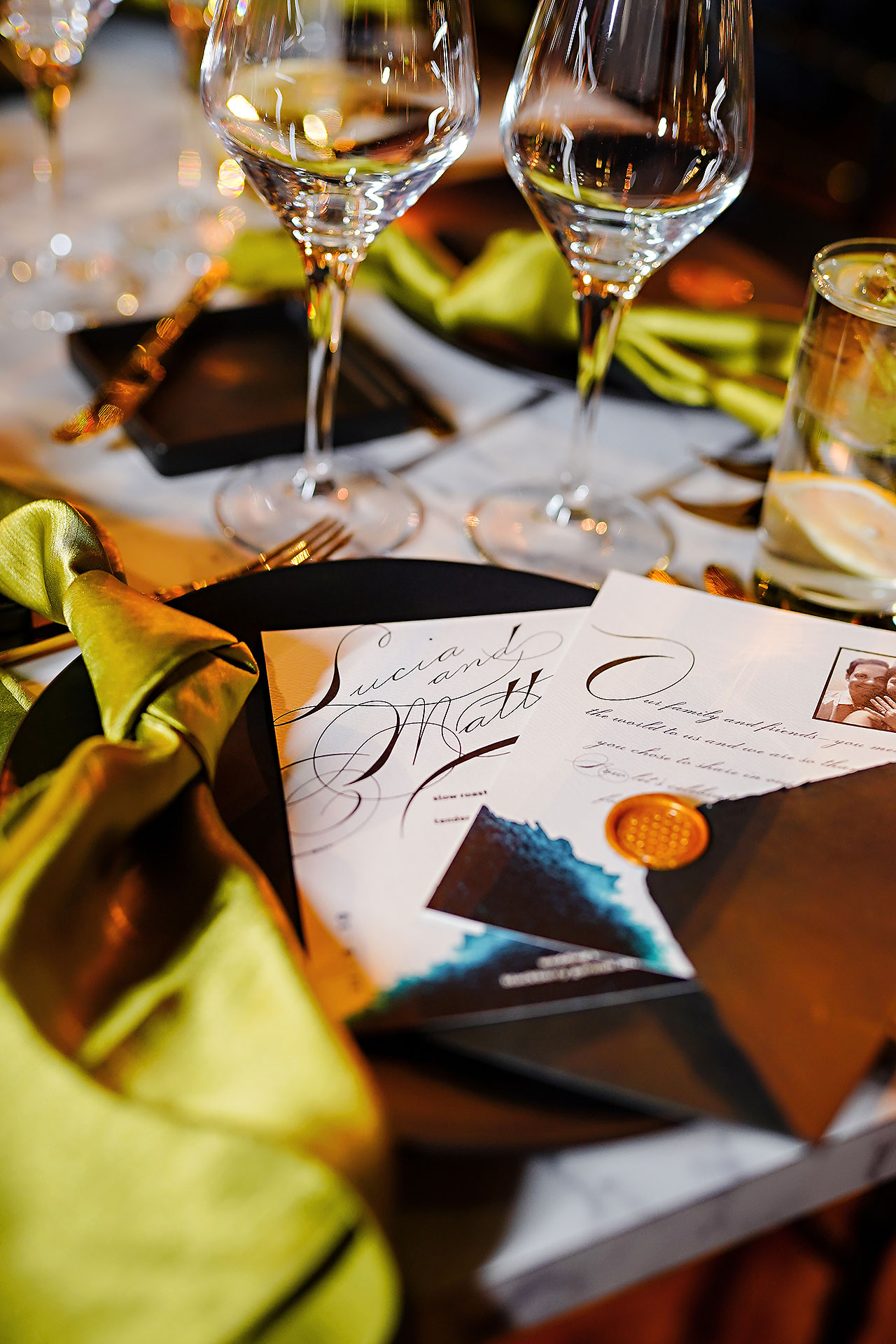 Lucia Matt Indiana Roof Ballroom Wedding Reception 032