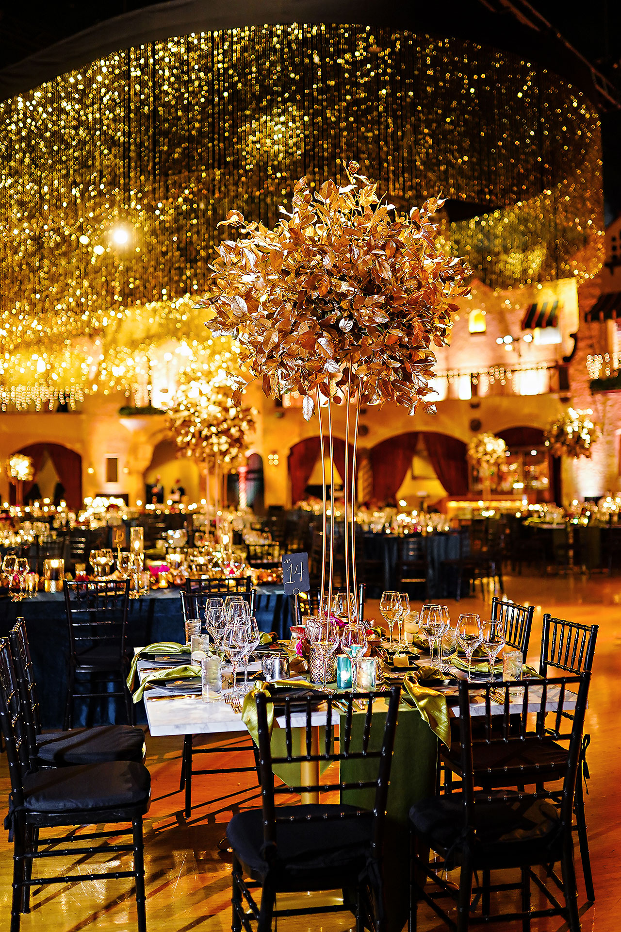 Lucia Matt Indiana Roof Ballroom Wedding Reception 033