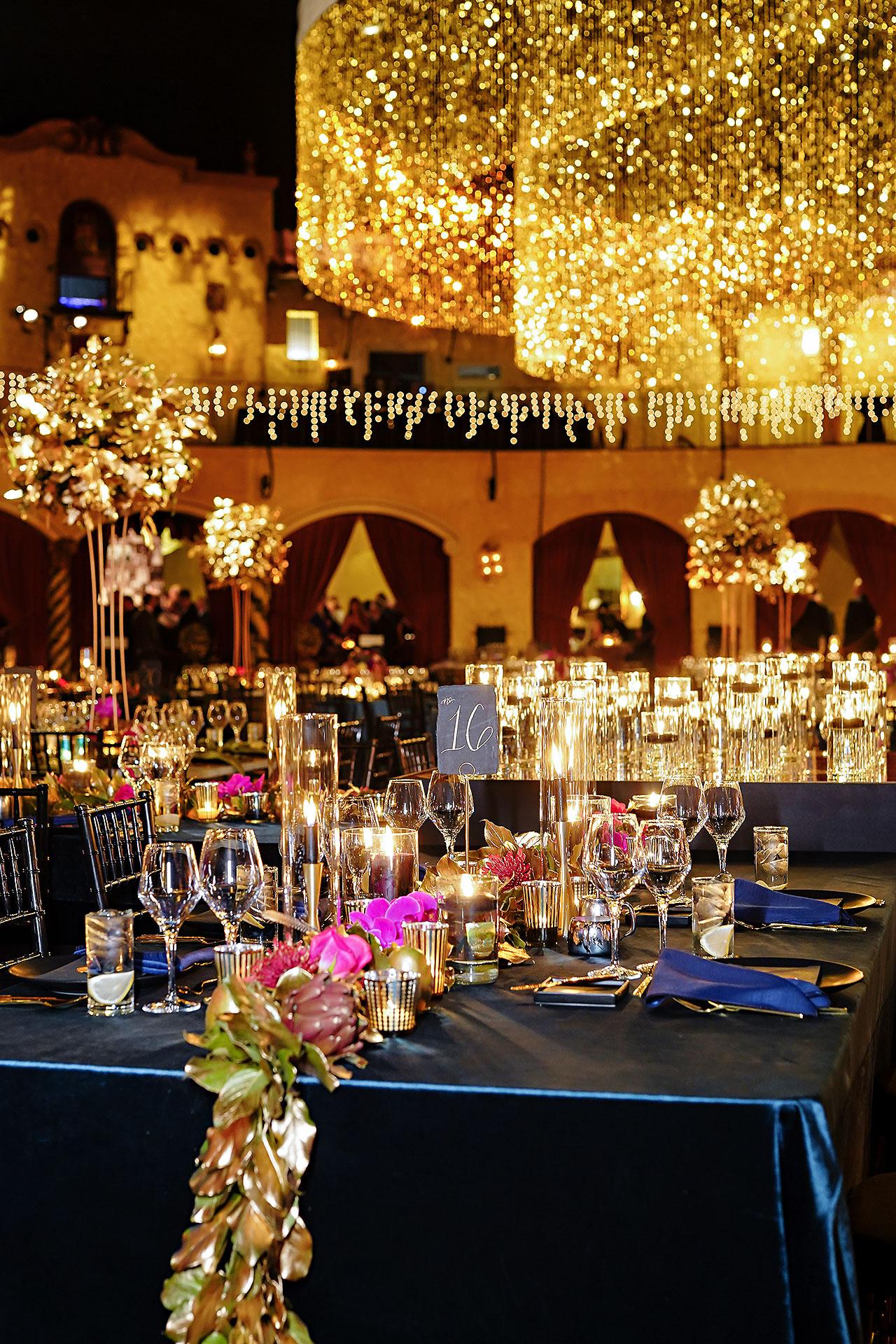 Lucia Matt Indiana Roof Ballroom Wedding Reception 031