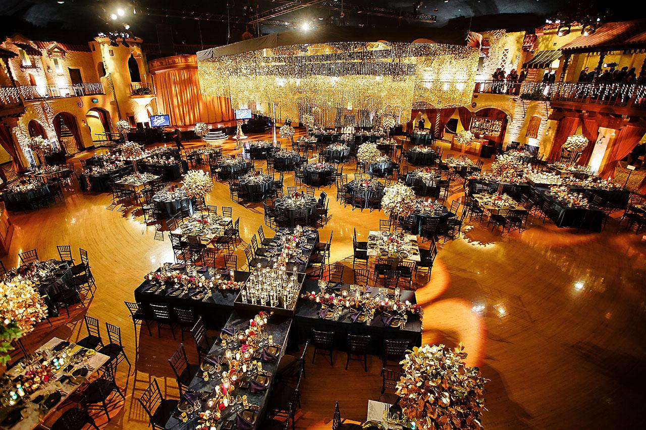 Lucia Matt Indiana Roof Ballroom Wedding Reception 026