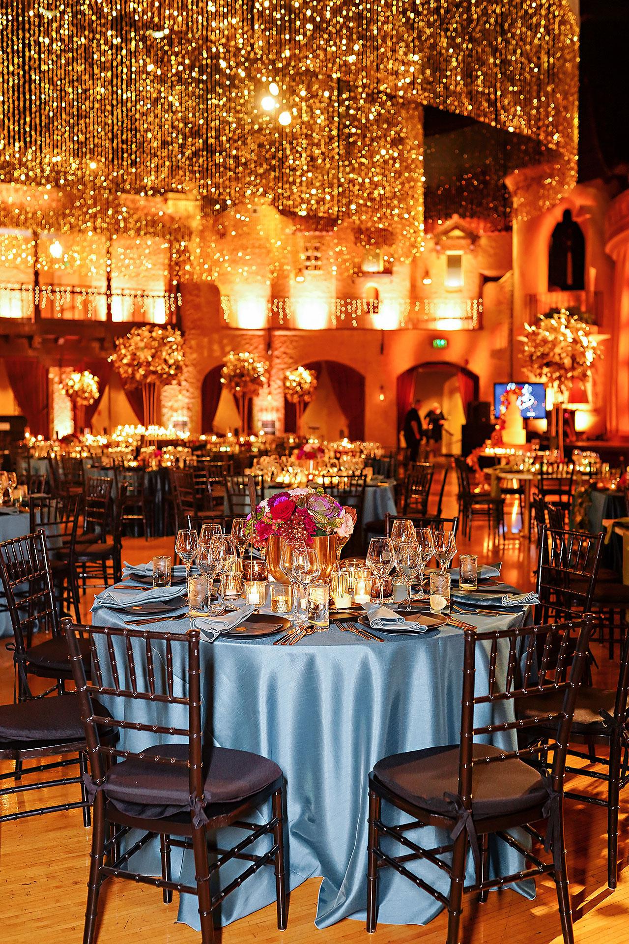 Lucia Matt Indiana Roof Ballroom Wedding Reception 020