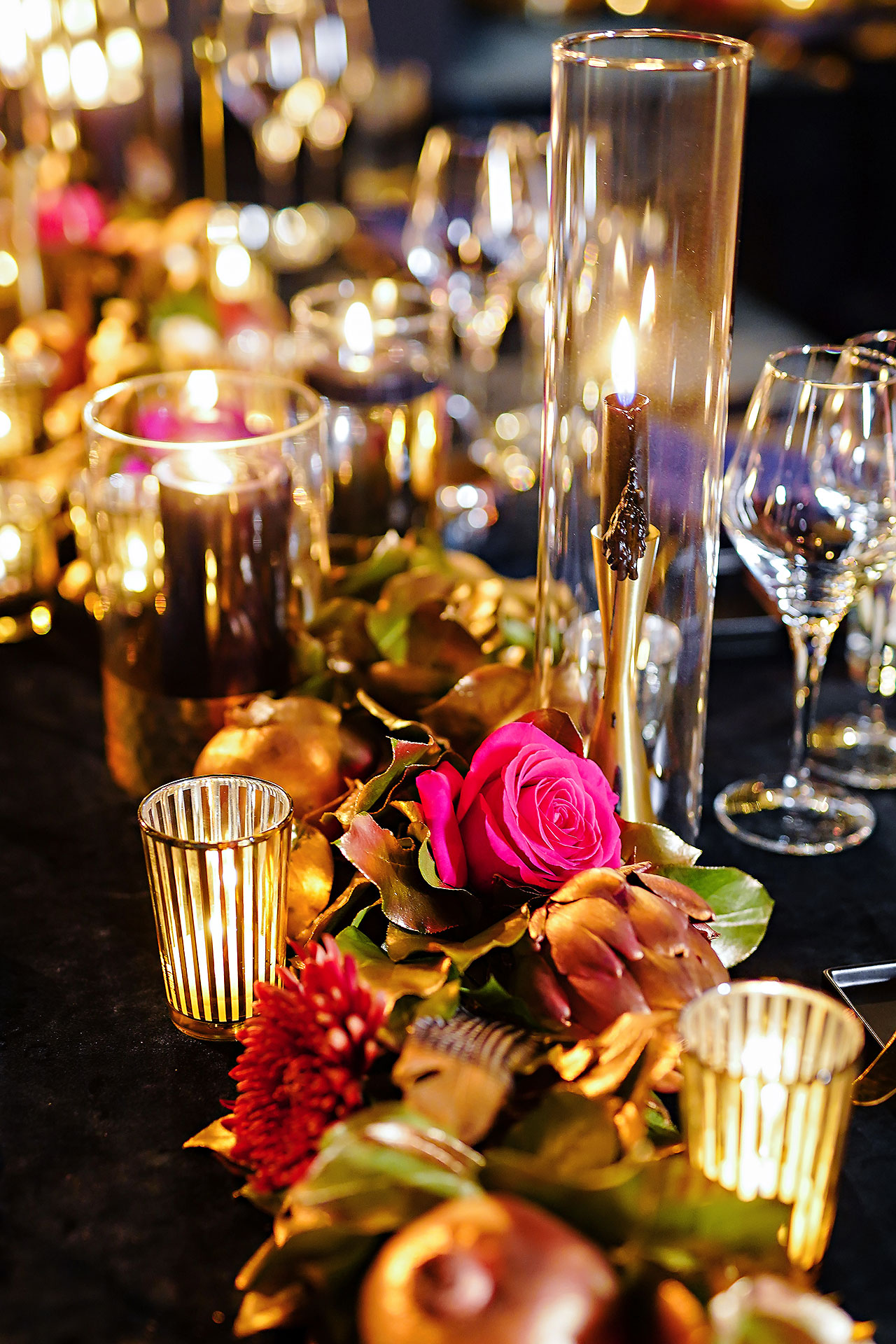 Lucia Matt Indiana Roof Ballroom Wedding Reception 021