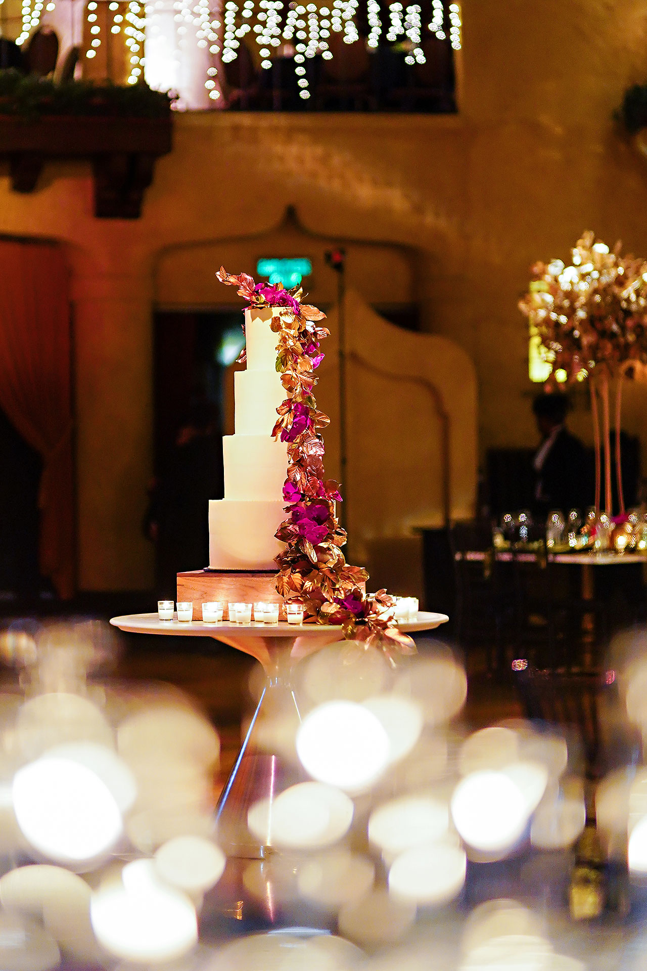 Lucia Matt Indiana Roof Ballroom Wedding Reception 017