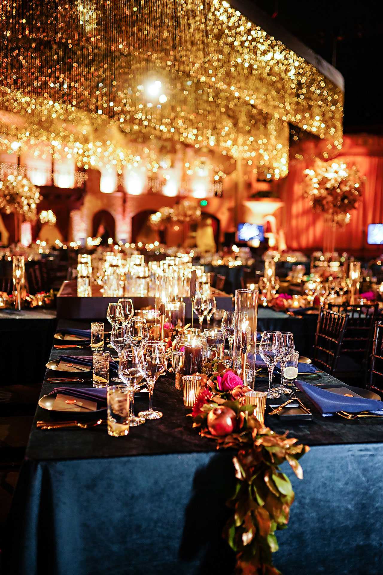 Lucia Matt Indiana Roof Ballroom Wedding Reception 018