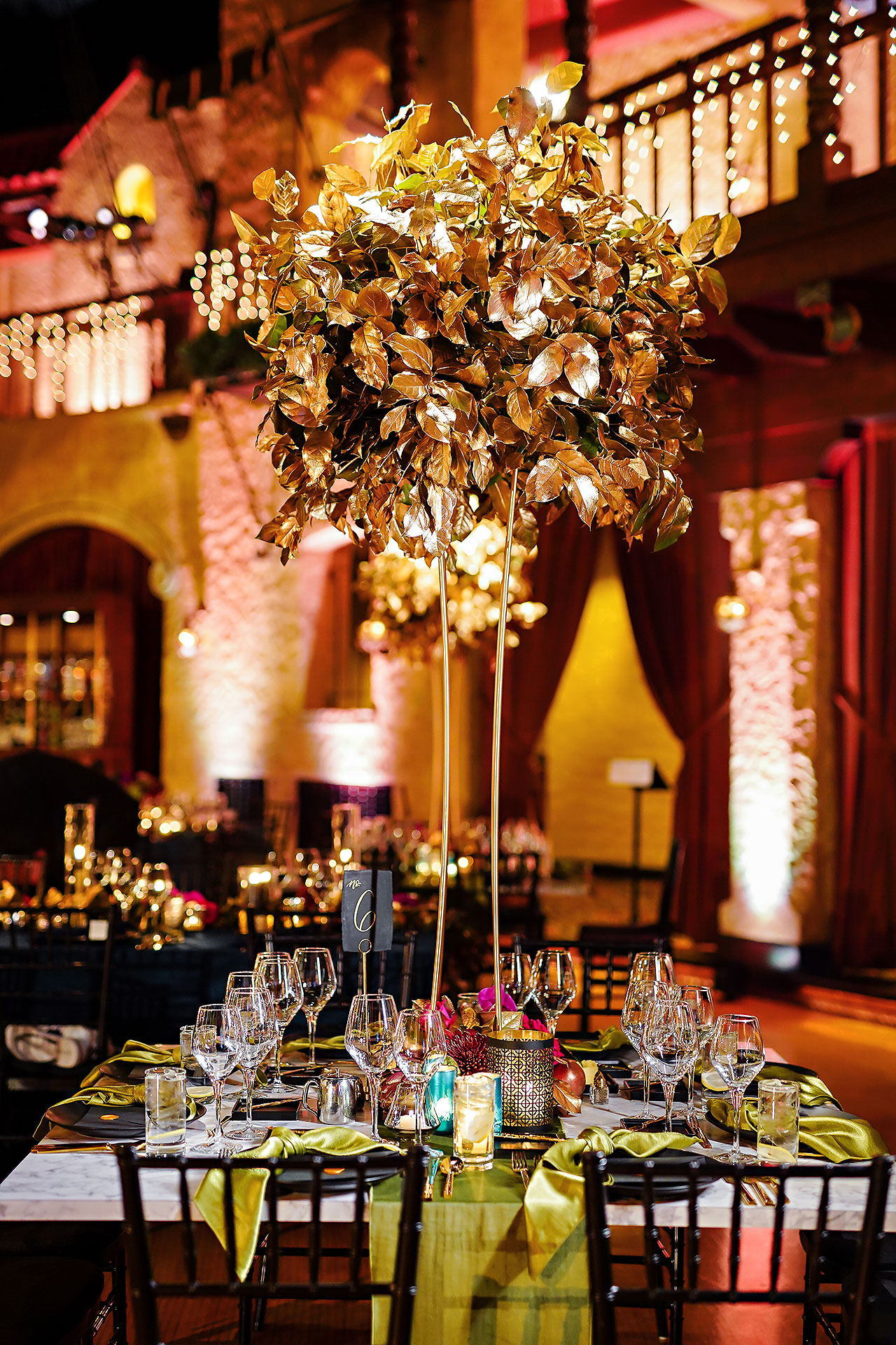 Lucia Matt Indiana Roof Ballroom Wedding Reception 015
