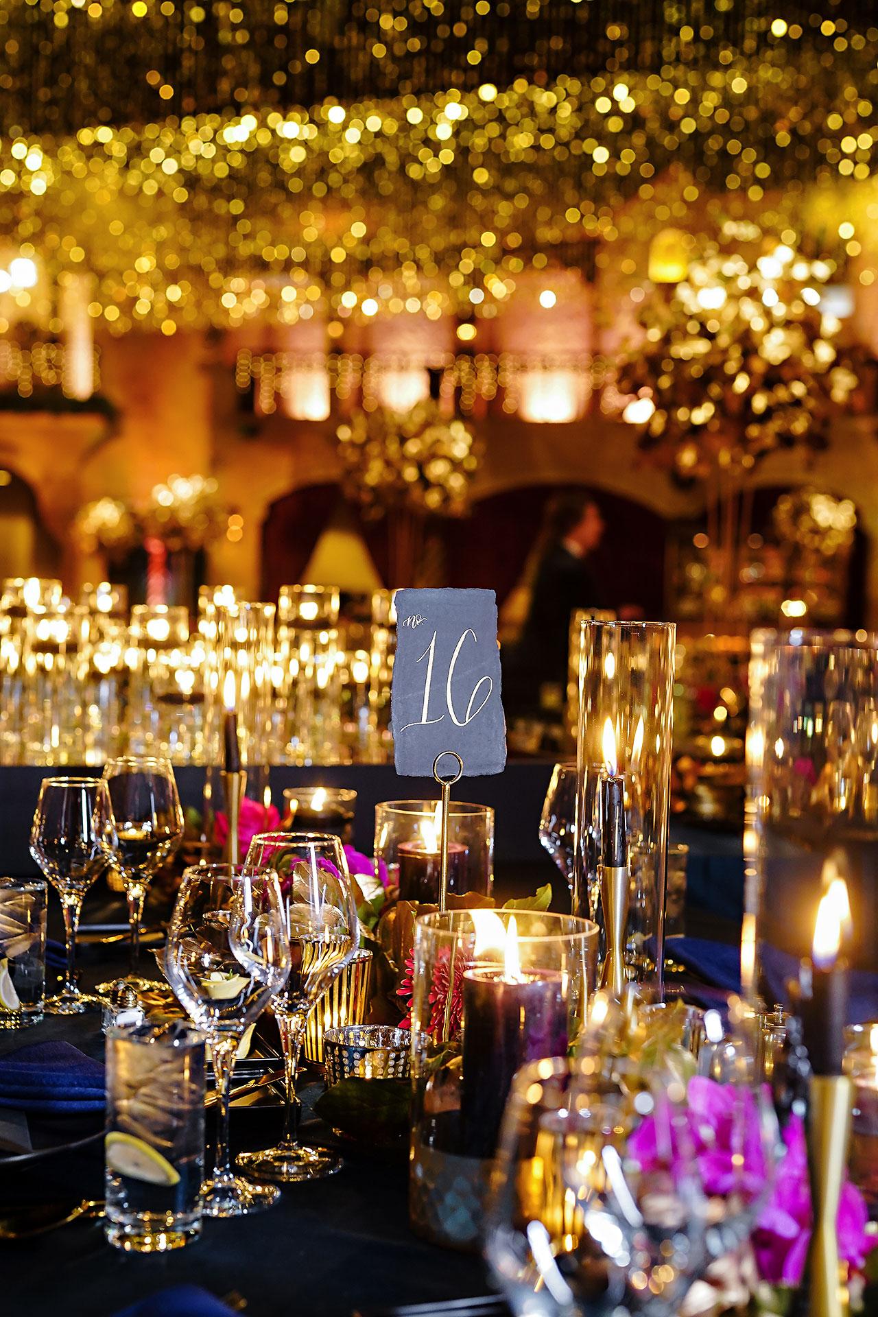 Lucia Matt Indiana Roof Ballroom Wedding Reception 016