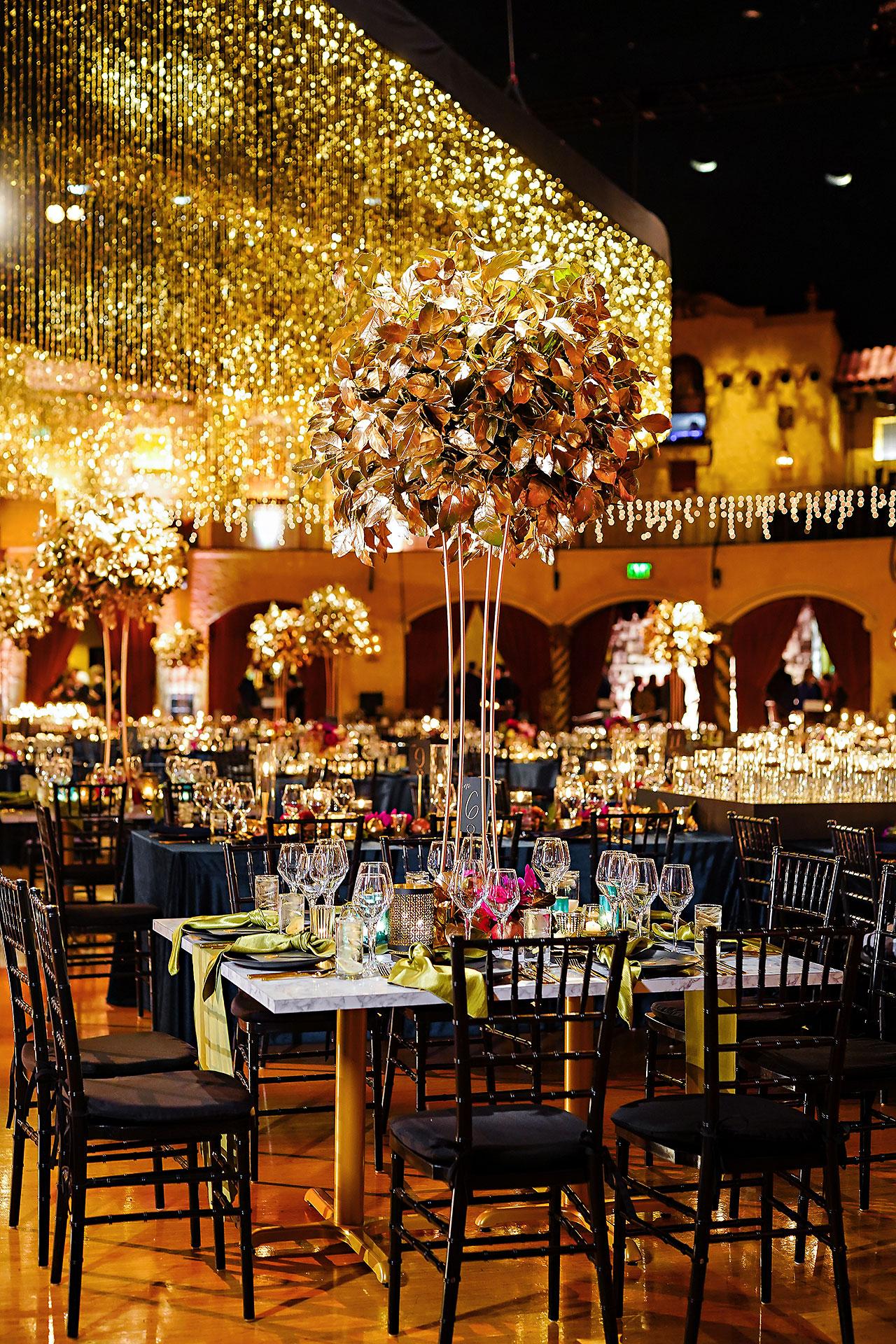 Lucia Matt Indiana Roof Ballroom Wedding Reception 013