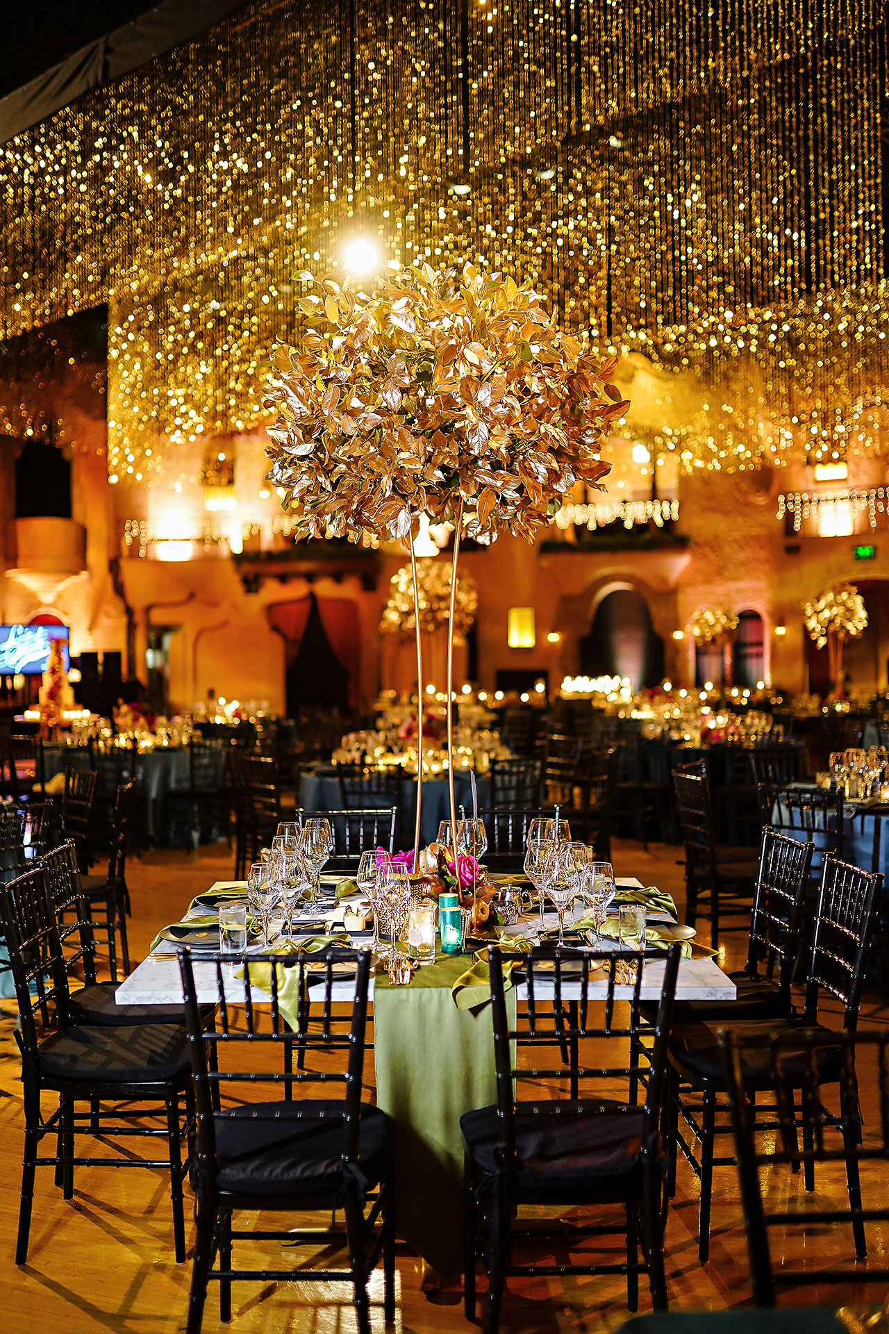 Lucia Matt Indiana Roof Ballroom Wedding Reception 011