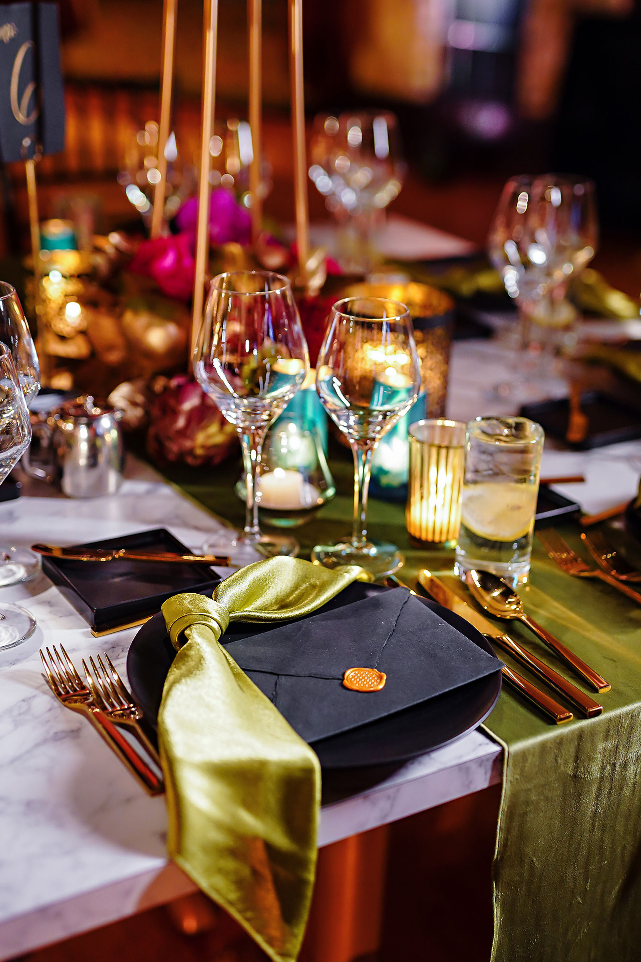 Lucia Matt Indiana Roof Ballroom Wedding Reception 008