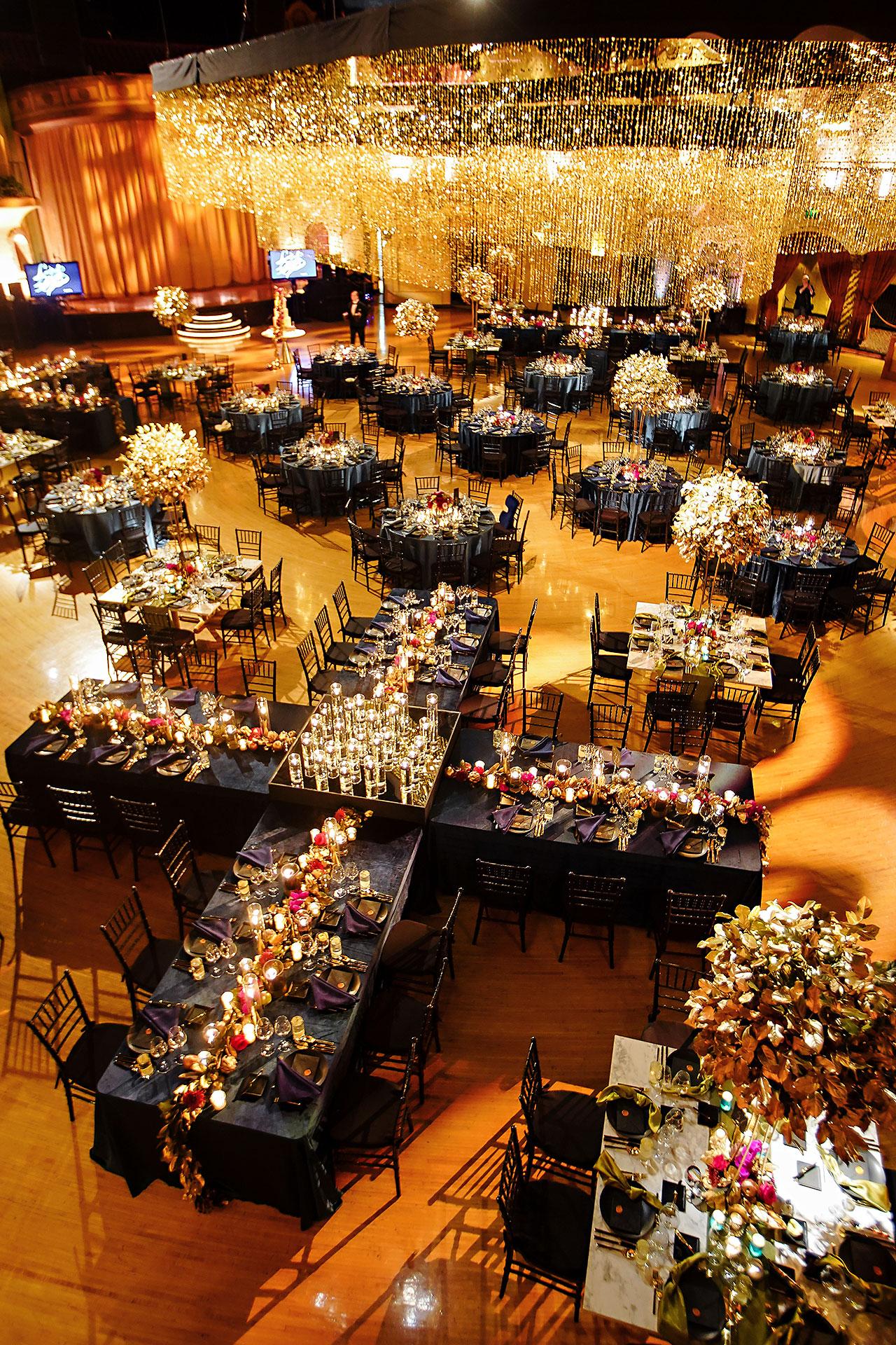 Lucia Matt Indiana Roof Ballroom Wedding Reception 007