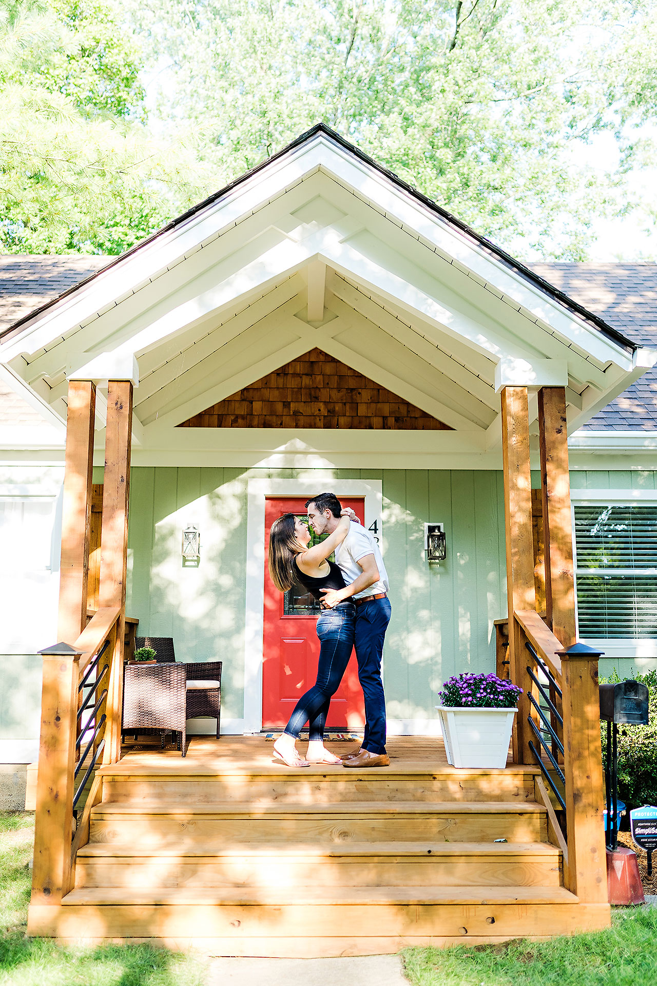 Kate Sawyer Holcomb Gardens Engagement Session 002