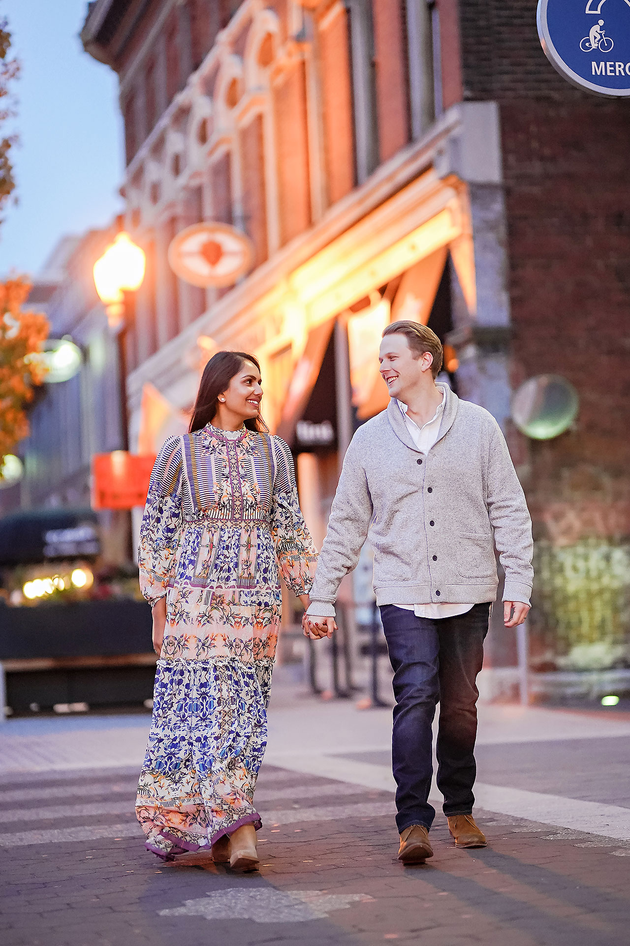 Nadia Parker Downtown Indy Engagement Session209