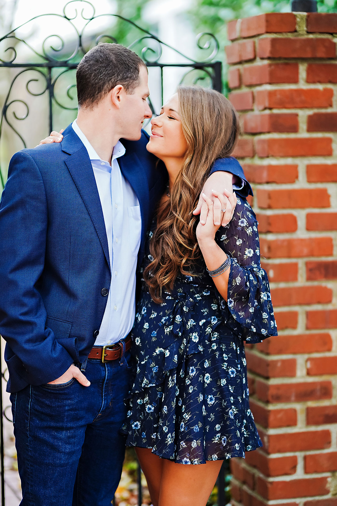 Sarah Andrew Holcomb Gardens Zionsville Engagement Session 099