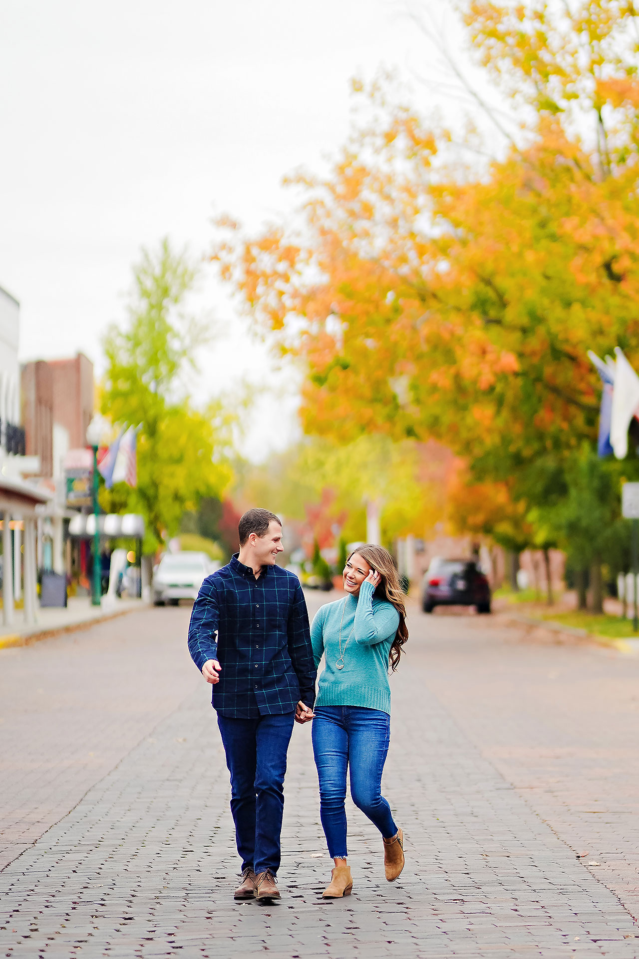Sarah Andrew Holcomb Gardens Zionsville Engagement Session 100
