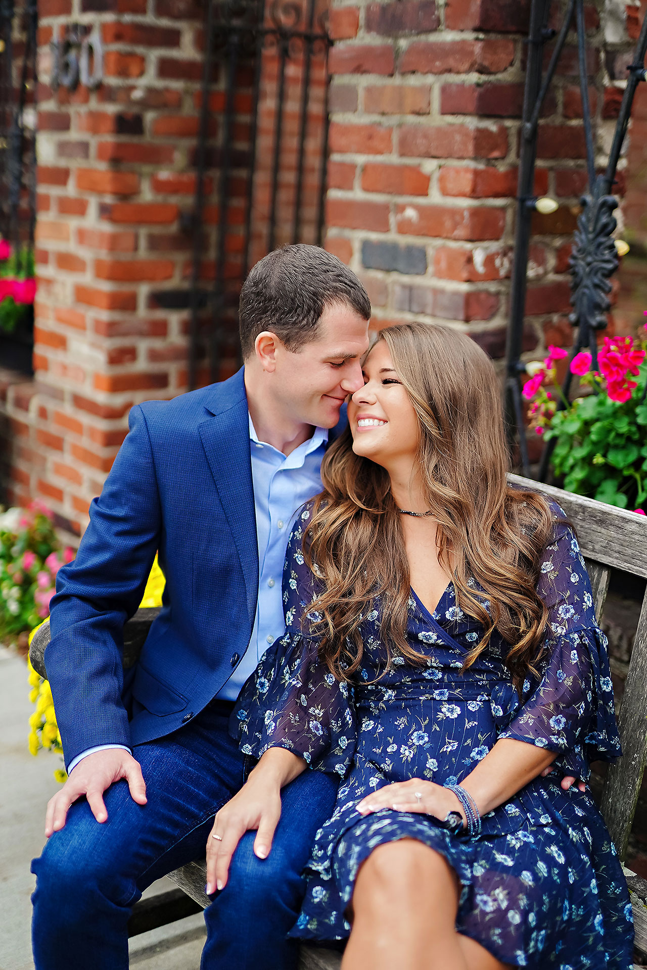 Sarah Andrew Holcomb Gardens Zionsville Engagement Session 085