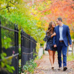 Sarah Andrew Holcomb Gardens Zionsville Engagement Session