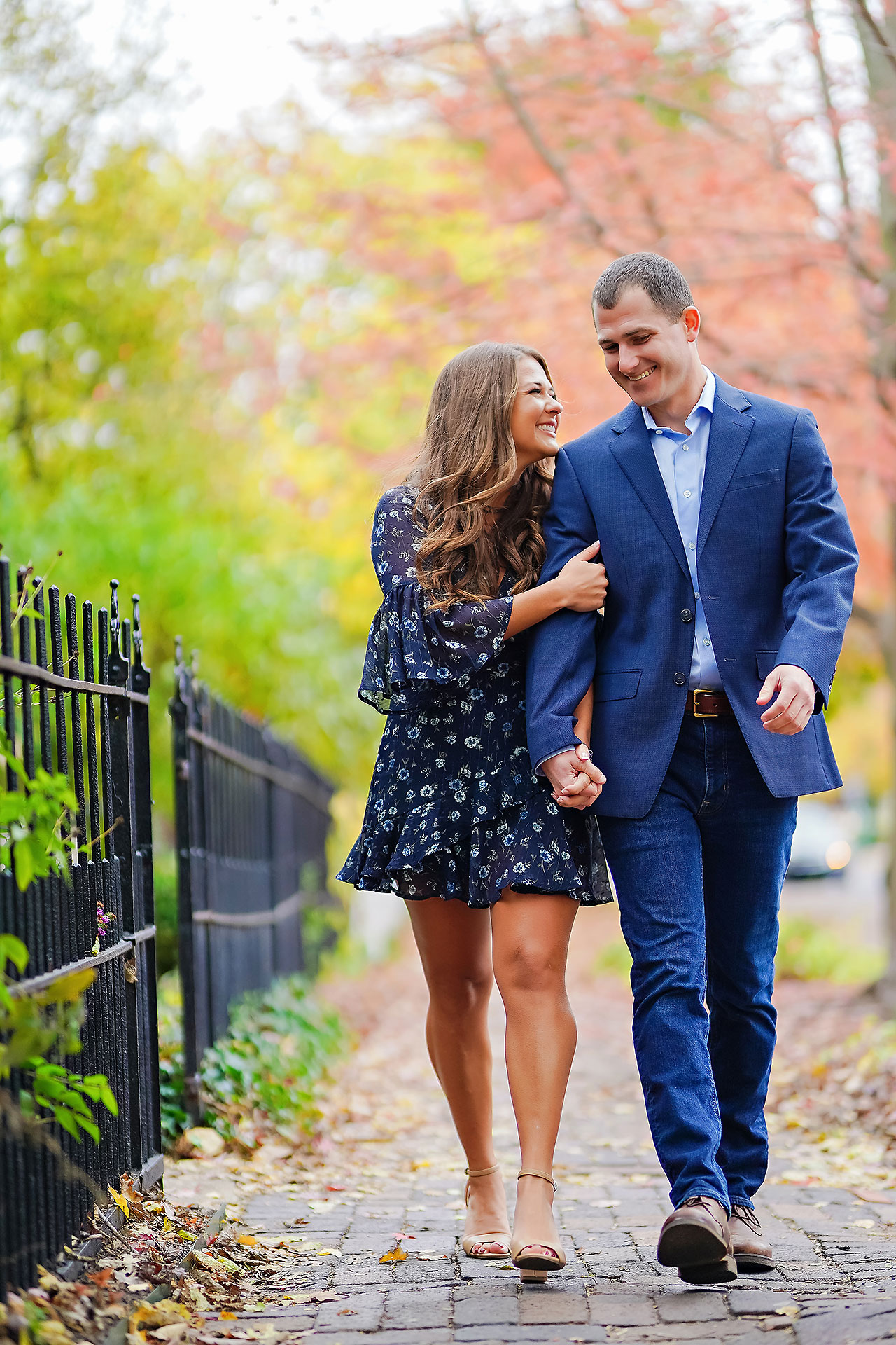 Sarah Andrew Holcomb Gardens Zionsville Engagement Session 067