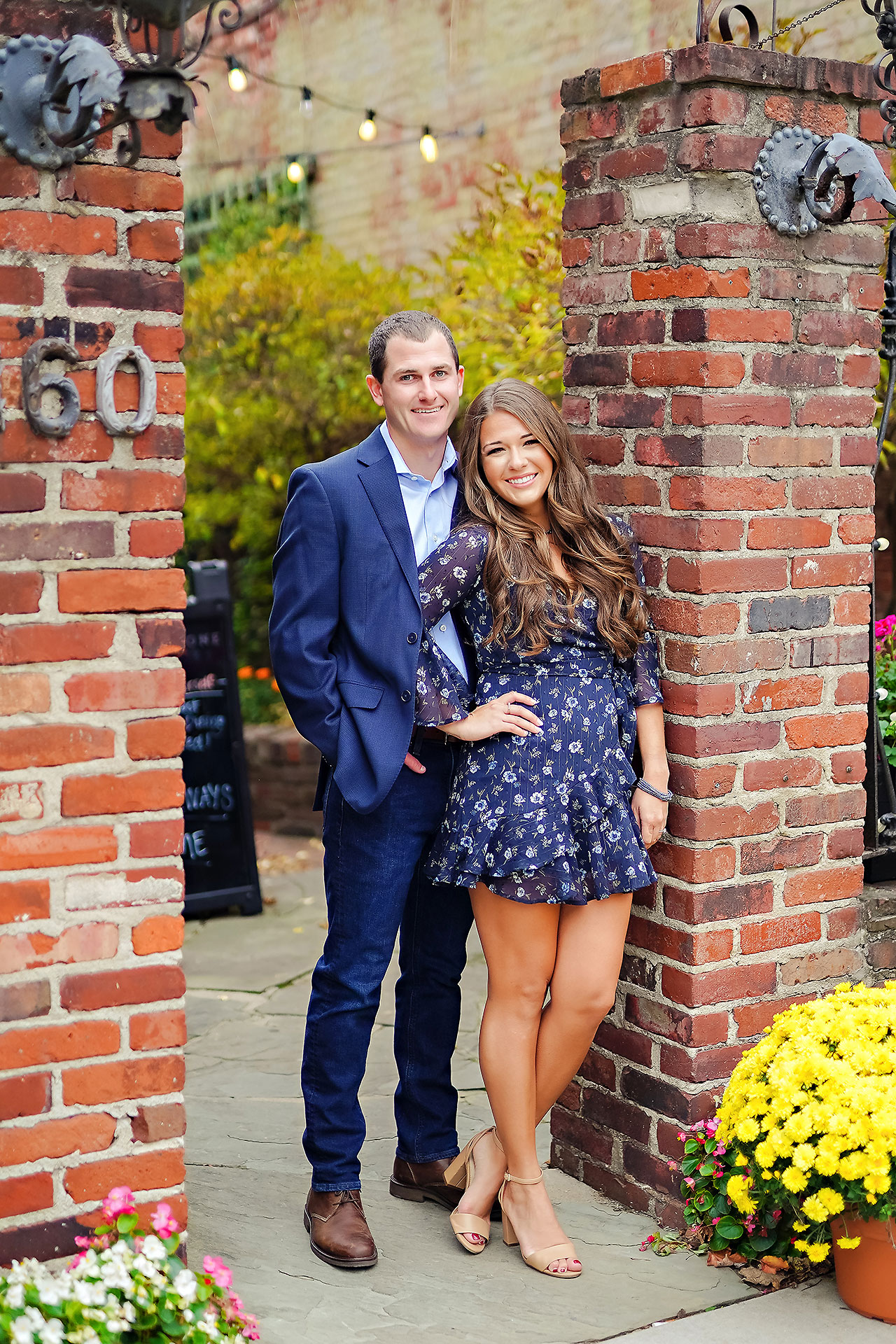 Sarah Andrew Holcomb Gardens Zionsville Engagement Session 065