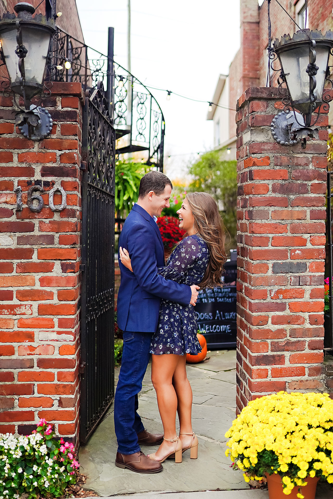 Sarah Andrew Holcomb Gardens Zionsville Engagement Session 058