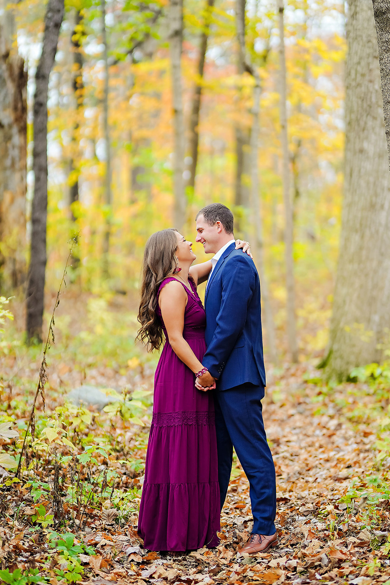Sarah Andrew Holcomb Gardens Zionsville Engagement Session 049