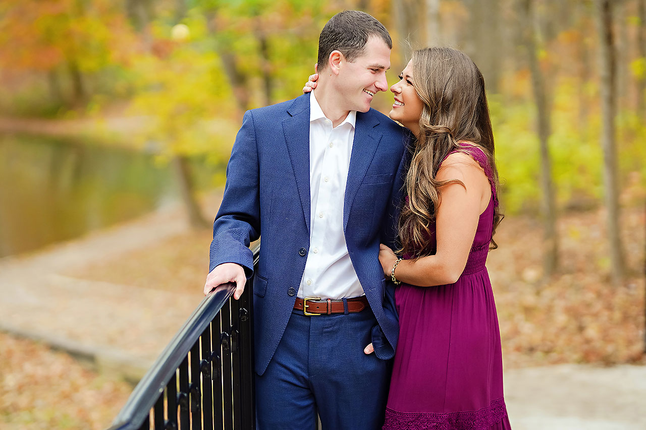 Sarah Andrew Holcomb Gardens Zionsville Engagement Session 045