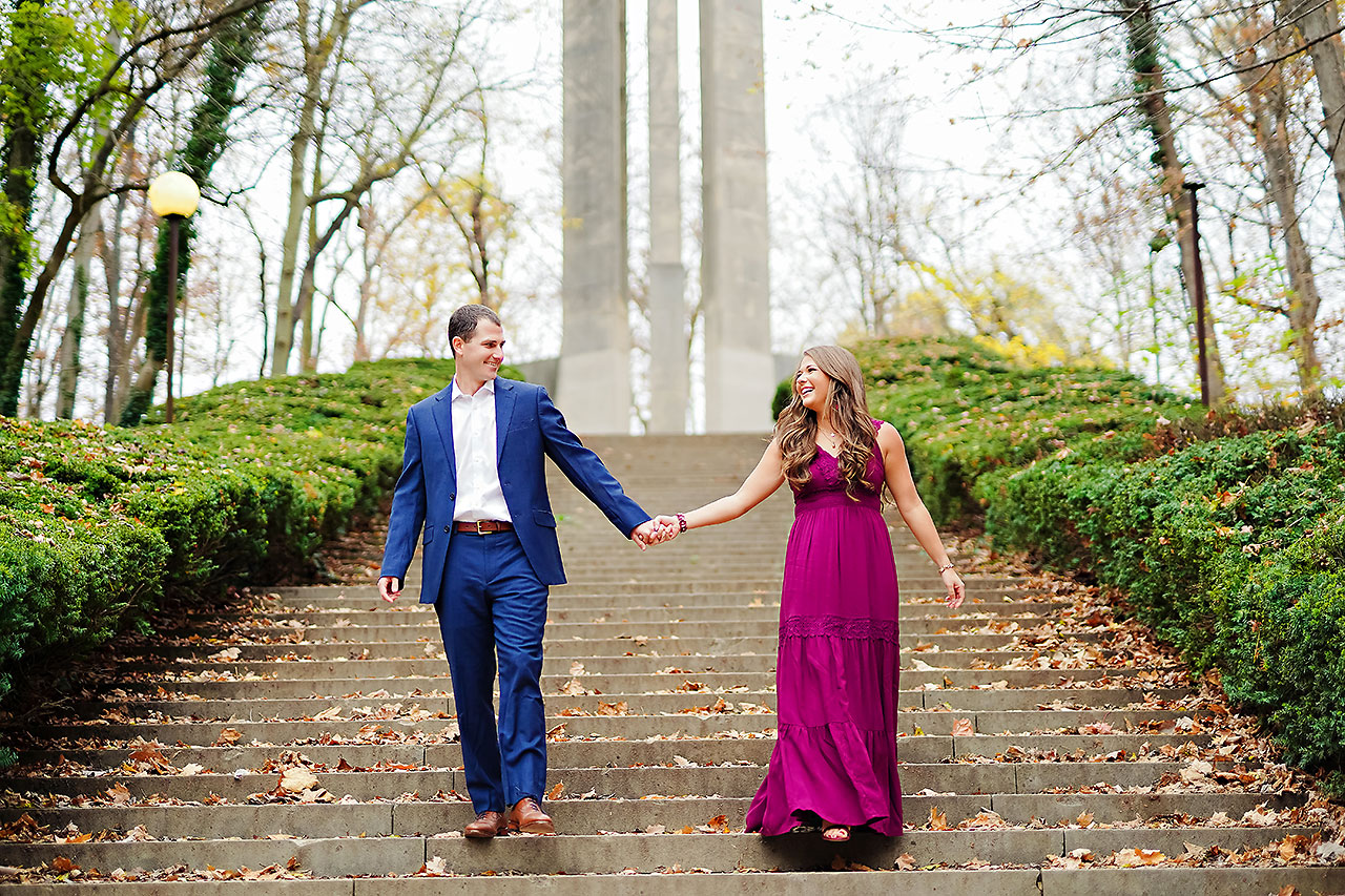 Sarah Andrew Holcomb Gardens Zionsville Engagement Session 046