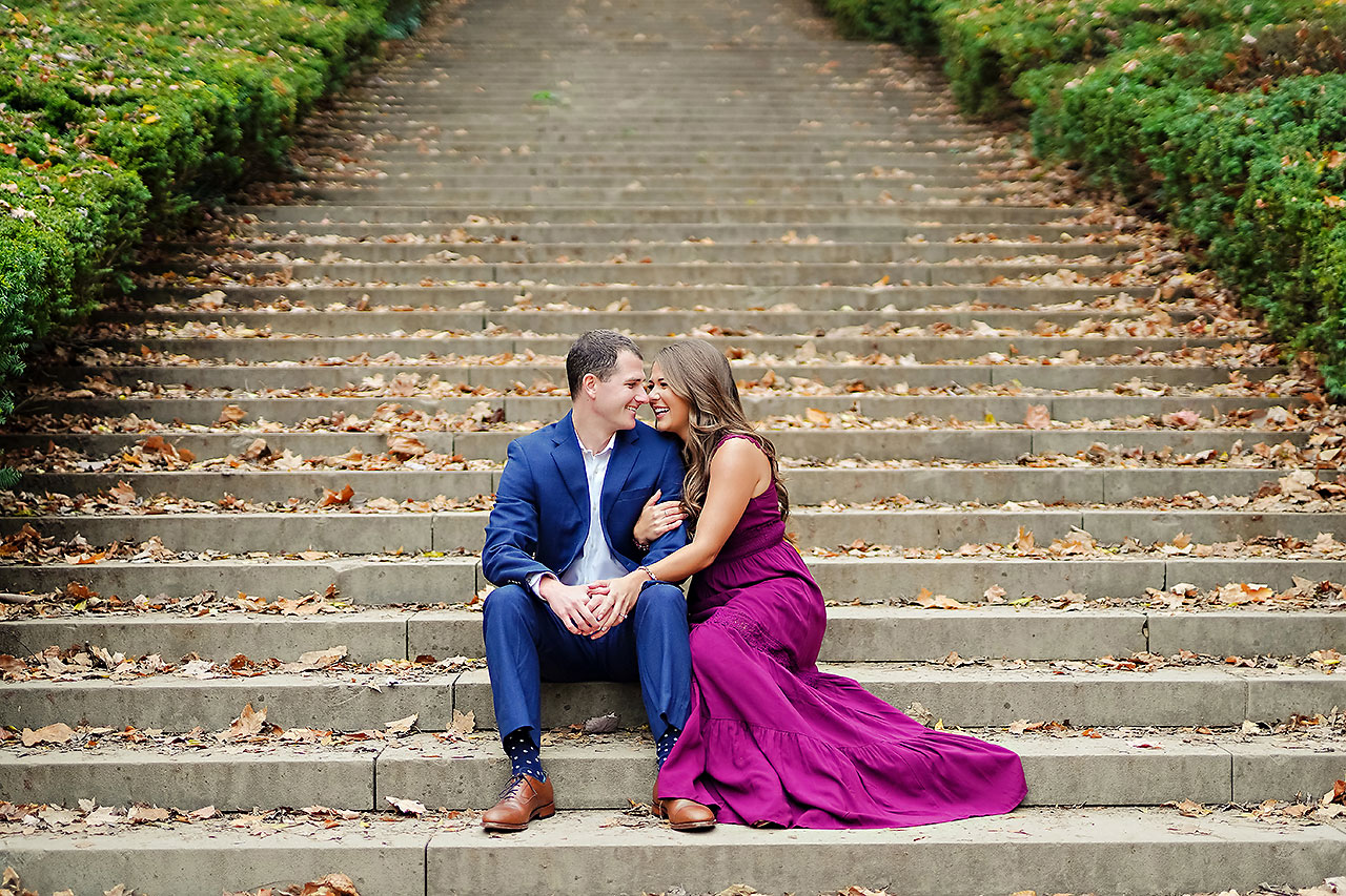 Sarah Andrew Holcomb Gardens Zionsville Engagement Session 042
