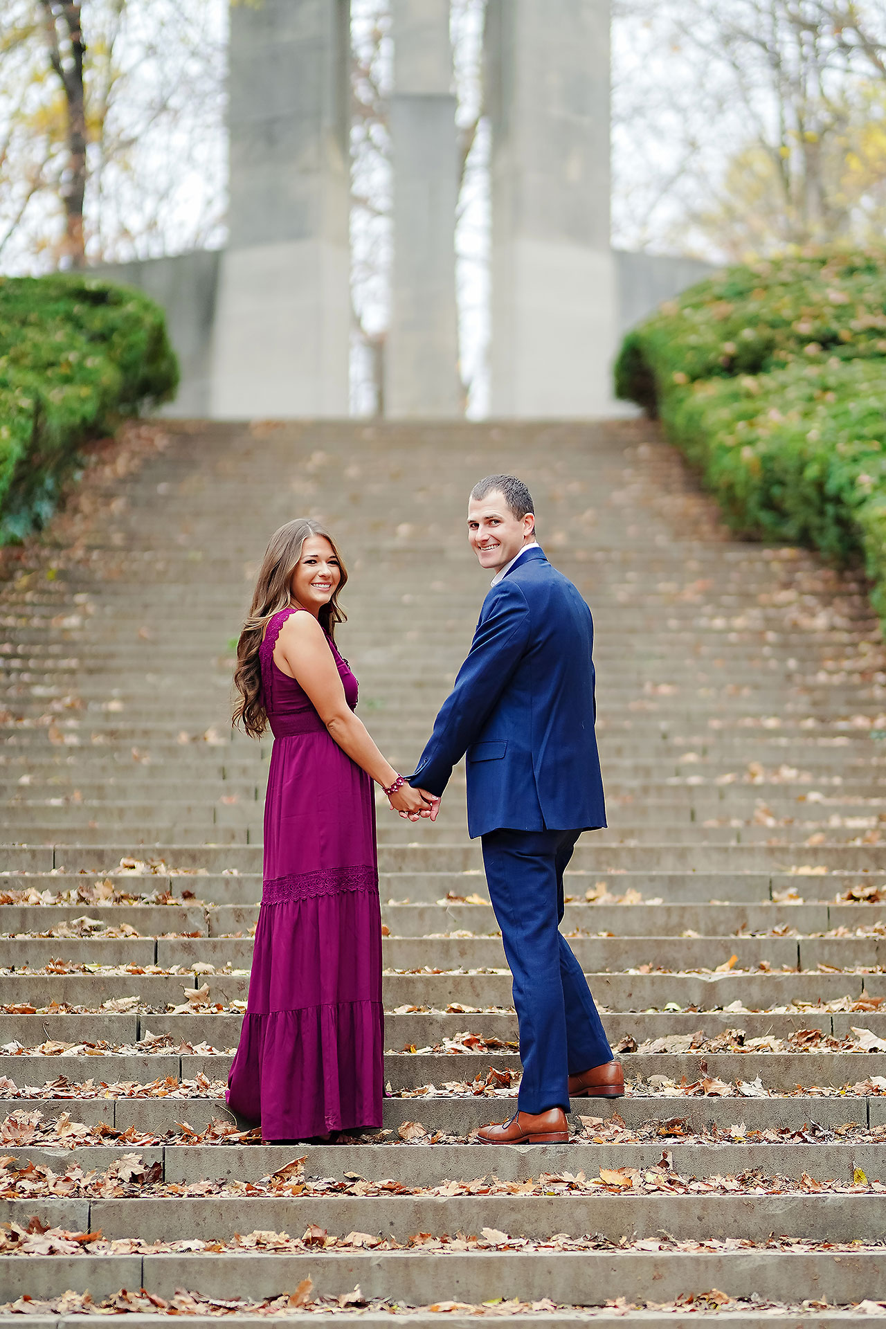 Sarah Andrew Holcomb Gardens Zionsville Engagement Session 041