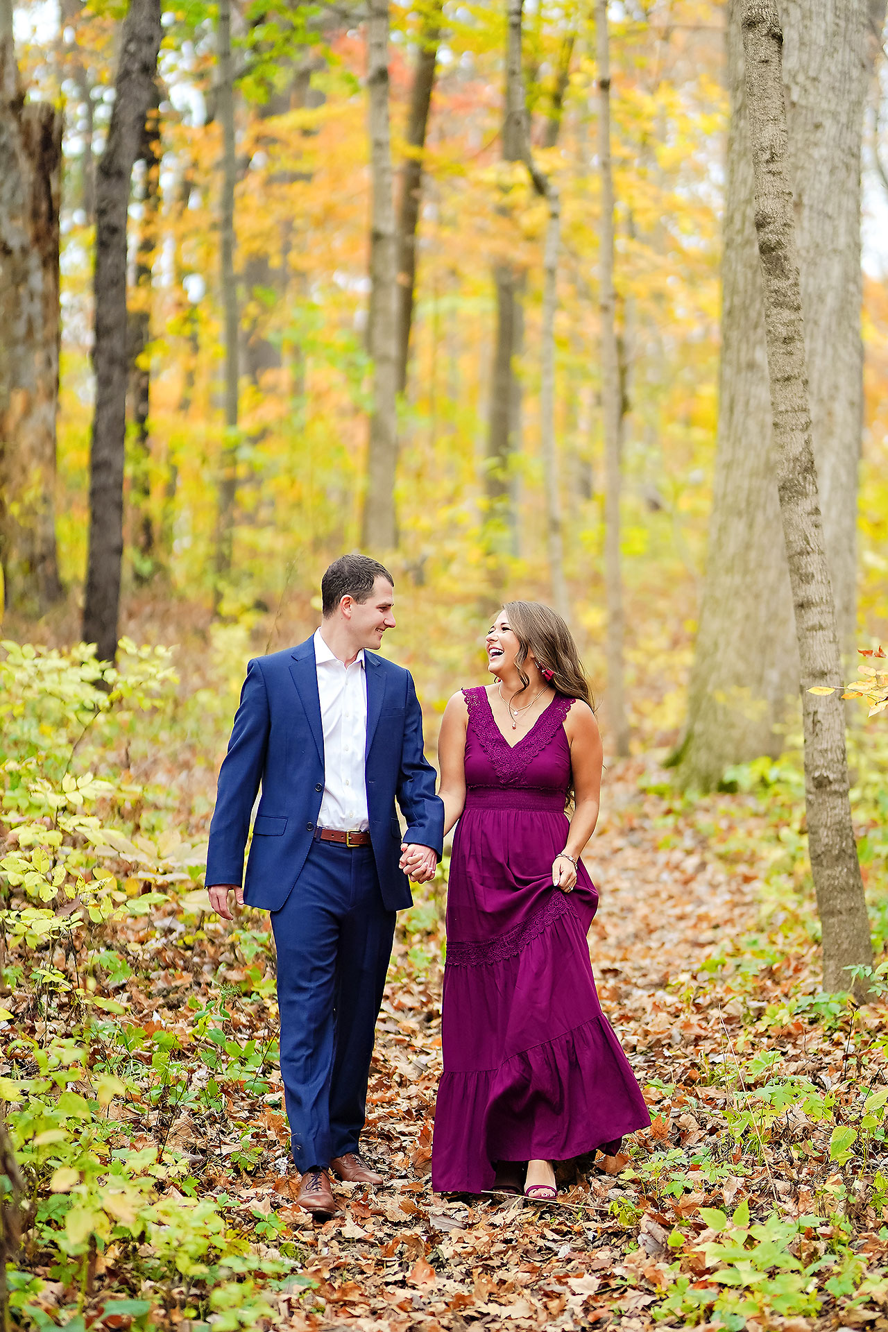Sarah Andrew Holcomb Gardens Zionsville Engagement Session 015