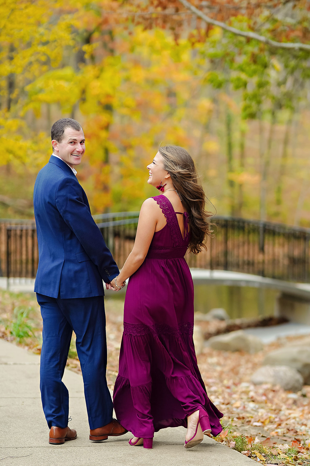 Sarah Andrew Holcomb Gardens Zionsville Engagement Session 011