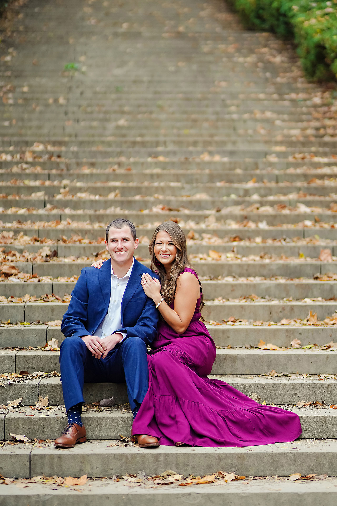 Sarah Andrew Holcomb Gardens Zionsville Engagement Session 005