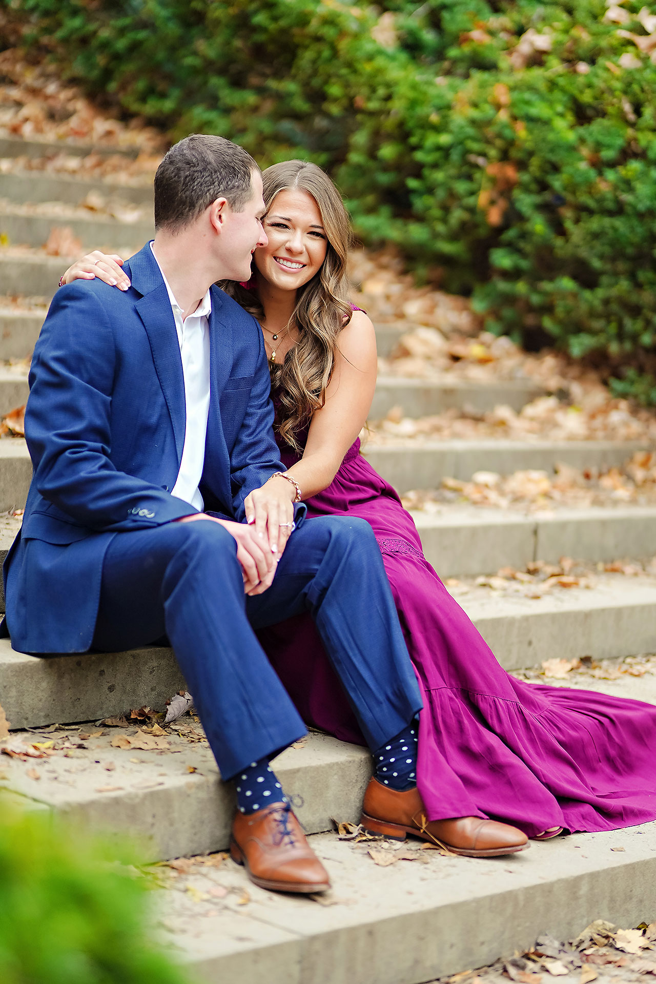Sarah Andrew Holcomb Gardens Zionsville Engagement Session 002