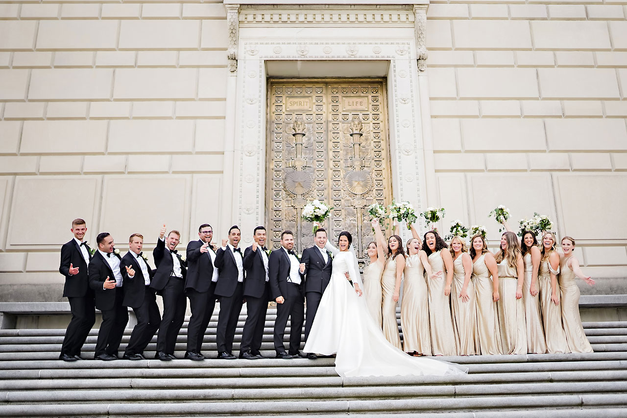 Kaitlin Collin Scottish Rite Indianapolis Wedding 166