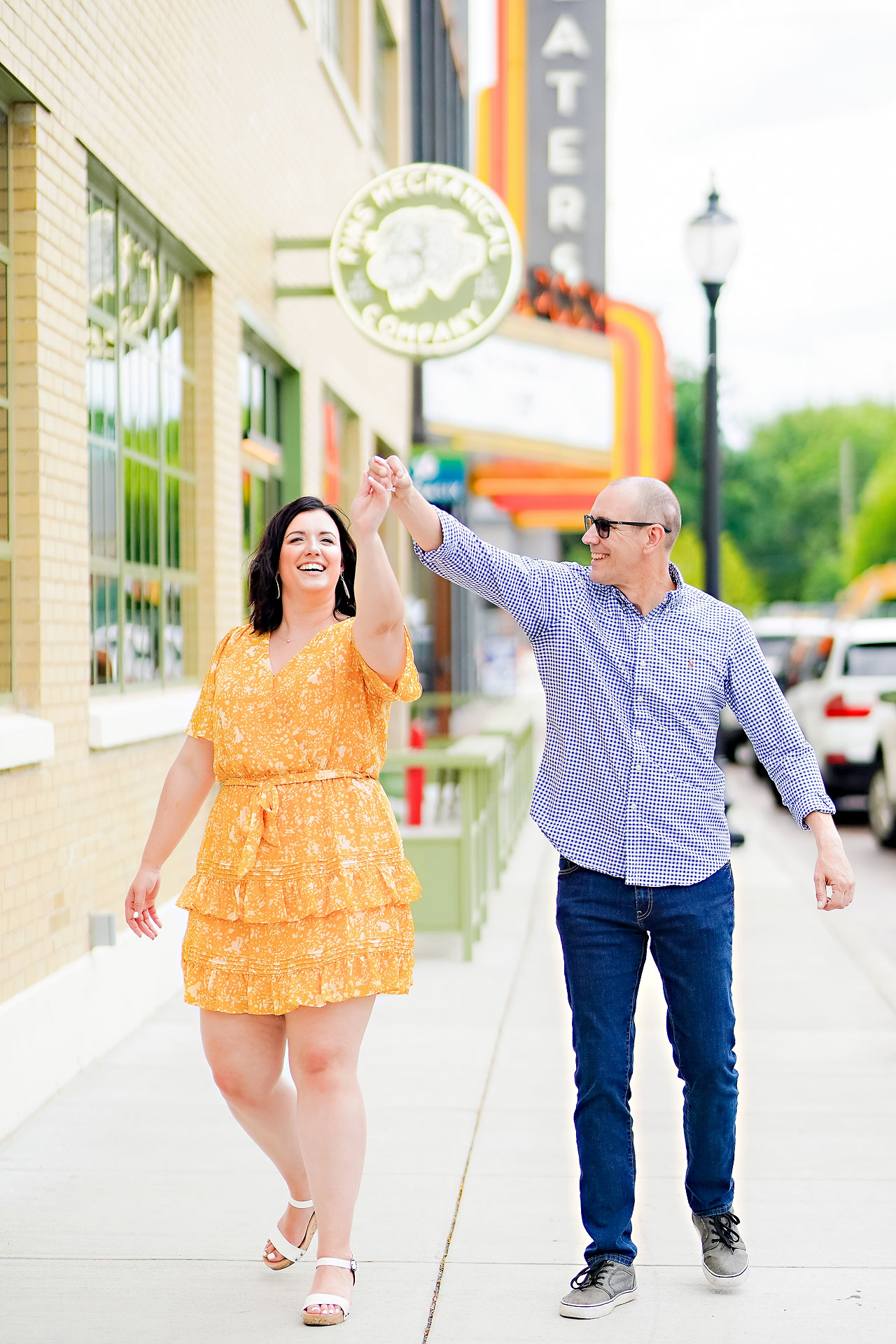 Katie Chuck Bottleworks Canal Indianapolis Engagement Session 001