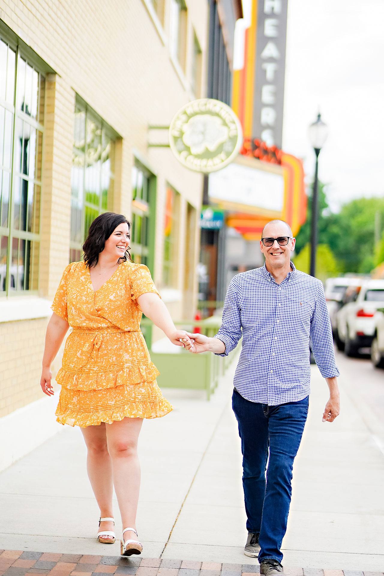 Katie Chuck Bottleworks Canal Indianapolis Engagement Session 009