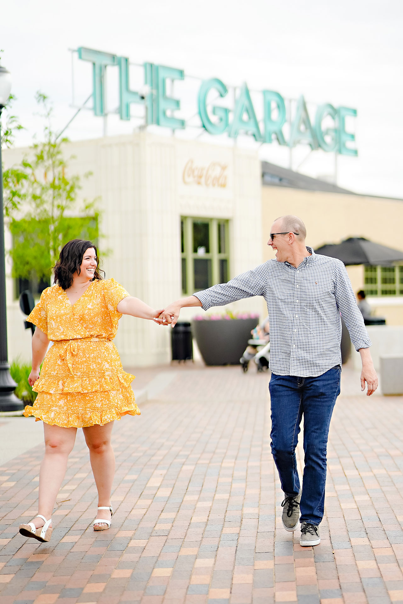 Katie Chuck Bottleworks Canal Indianapolis Engagement Session 011