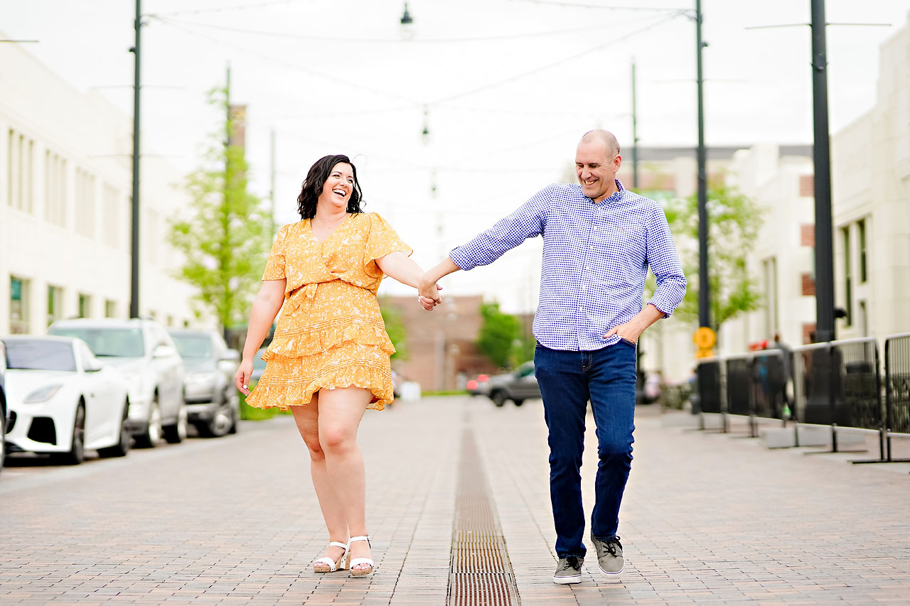Katie Chuck Bottleworks Canal Indianapolis Engagement Session 013