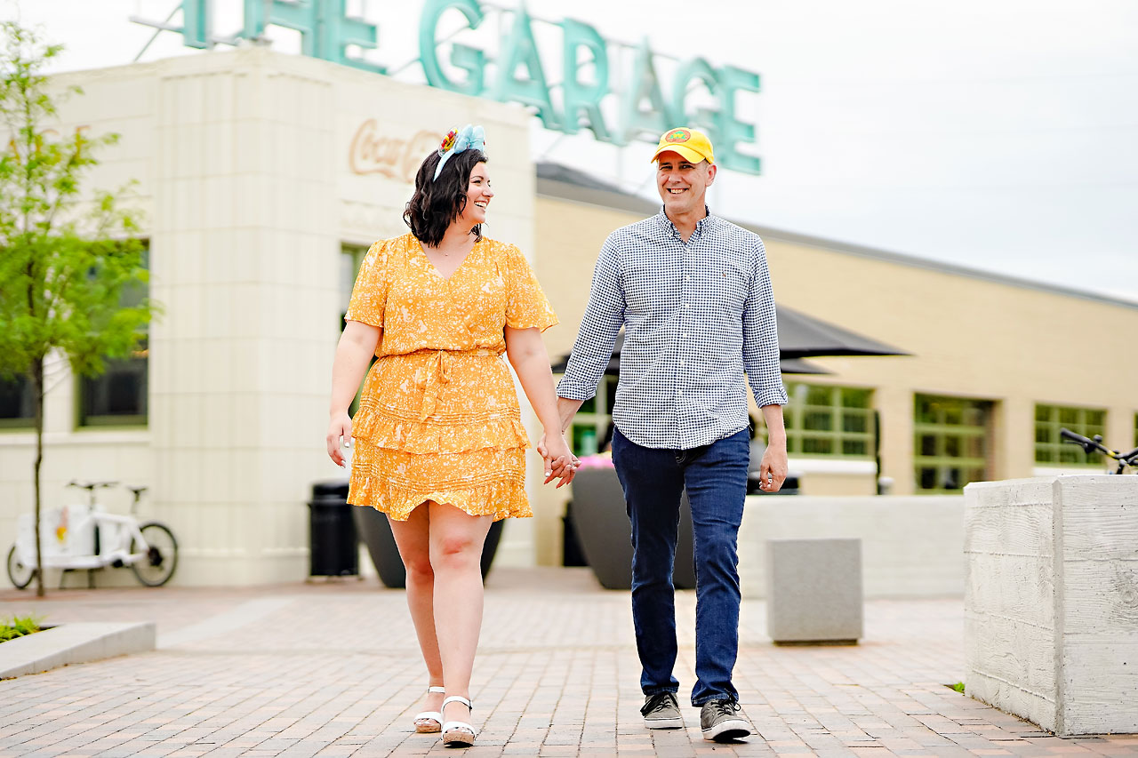 Katie Chuck Bottleworks Canal Indianapolis Engagement Session 015