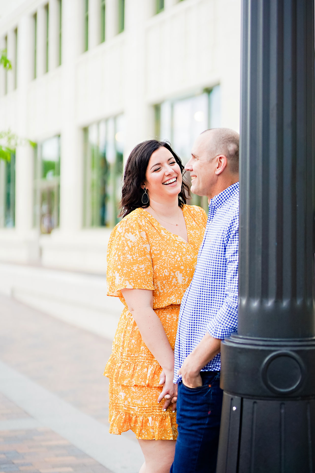 Katie Chuck Bottleworks Canal Indianapolis Engagement Session 016