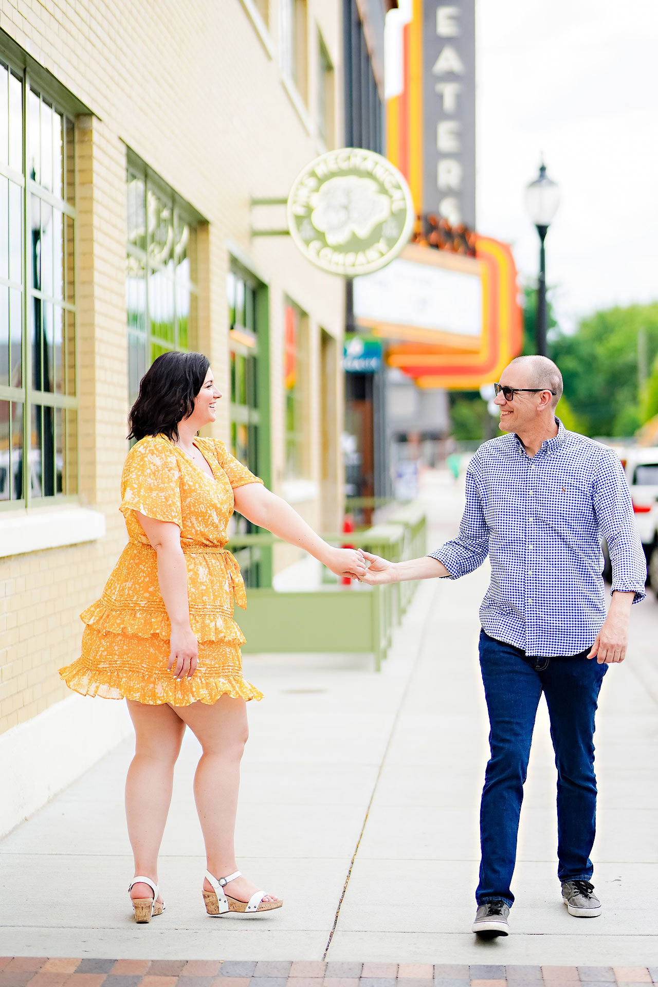 Katie Chuck Bottleworks Canal Indianapolis Engagement Session 026