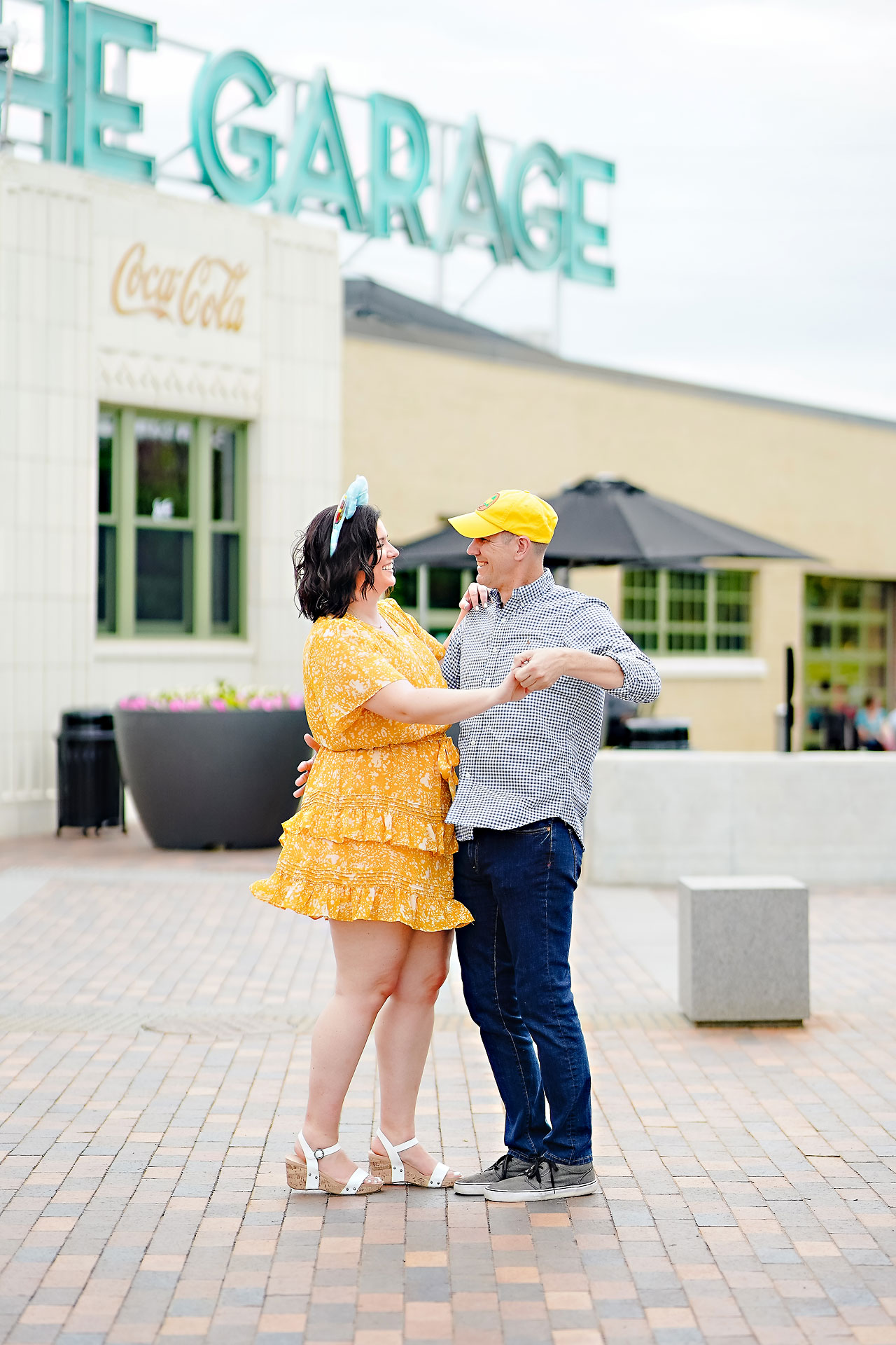 Katie Chuck Bottleworks Canal Indianapolis Engagement Session 034