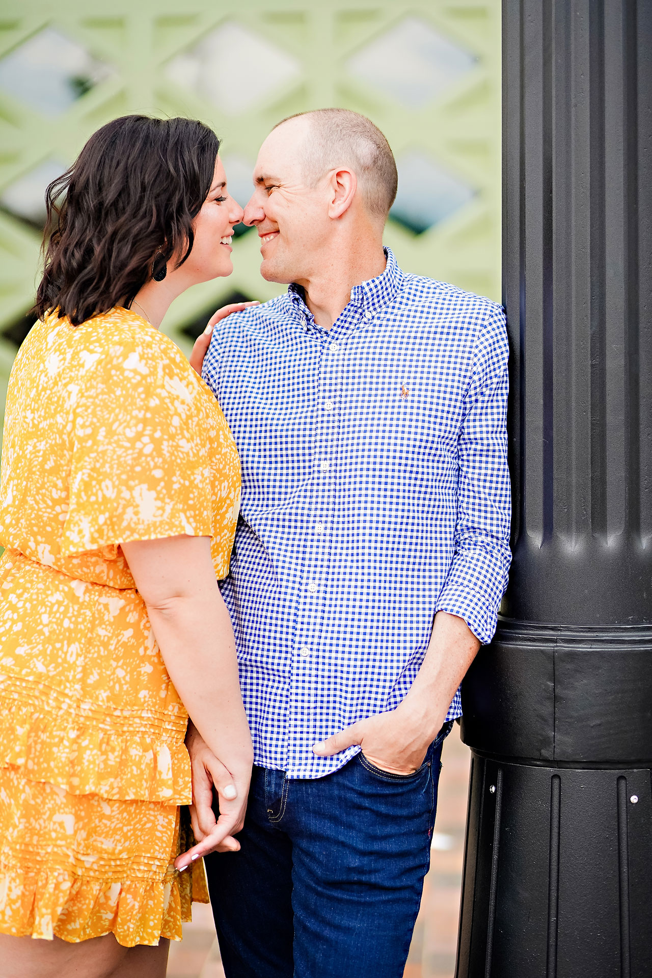 Katie Chuck Bottleworks Canal Indianapolis Engagement Session 041