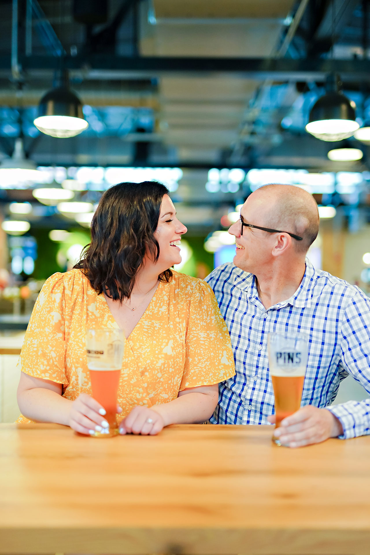Katie Chuck Bottleworks Canal Indianapolis Engagement Session 056