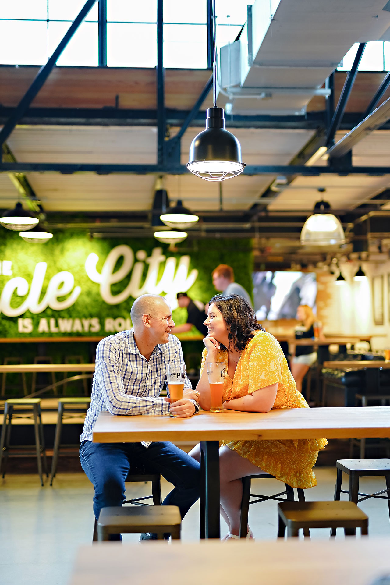 Katie Chuck Bottleworks Canal Indianapolis Engagement Session 057