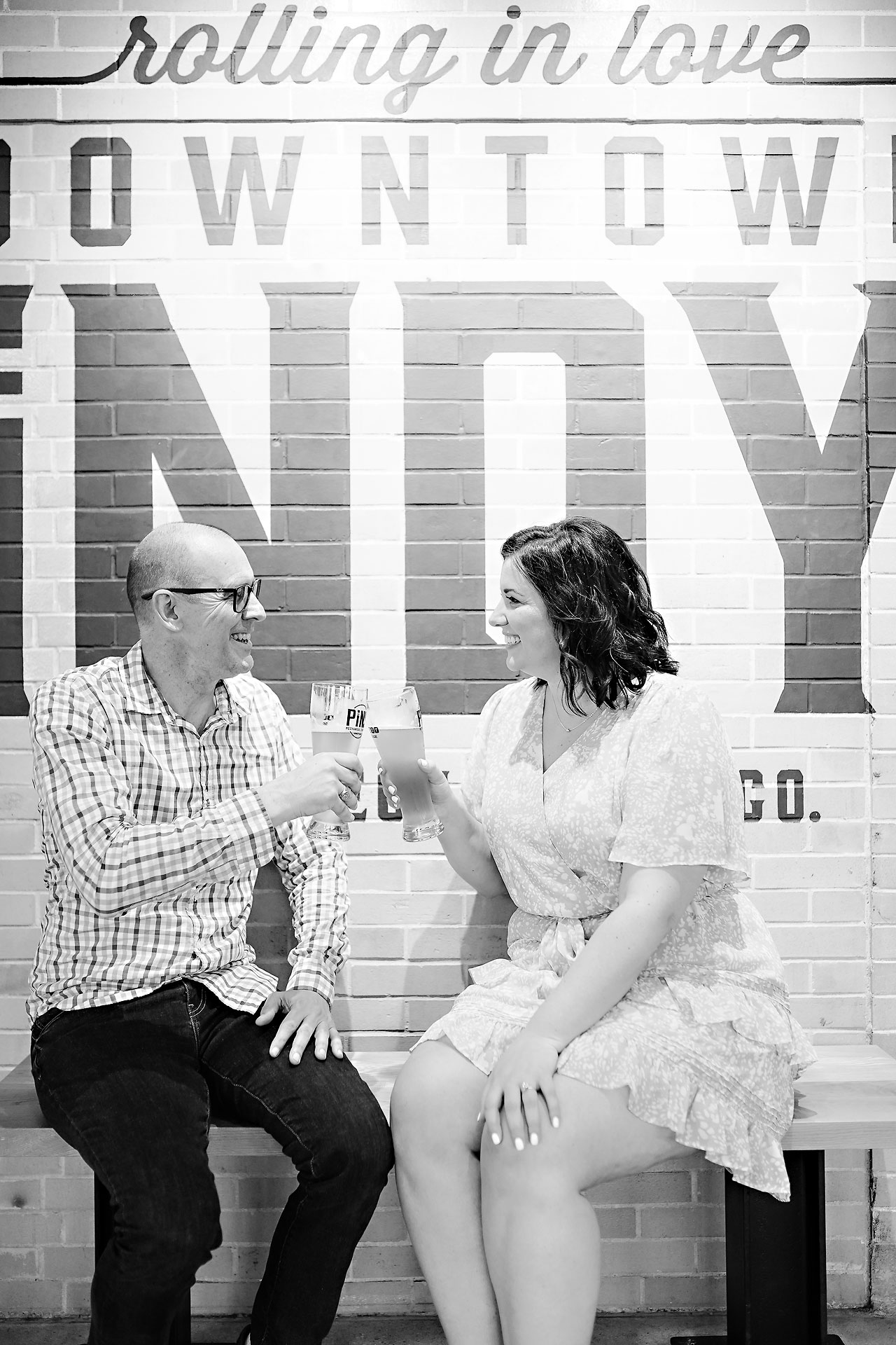 Katie Chuck Bottleworks Canal Indianapolis Engagement Session 058
